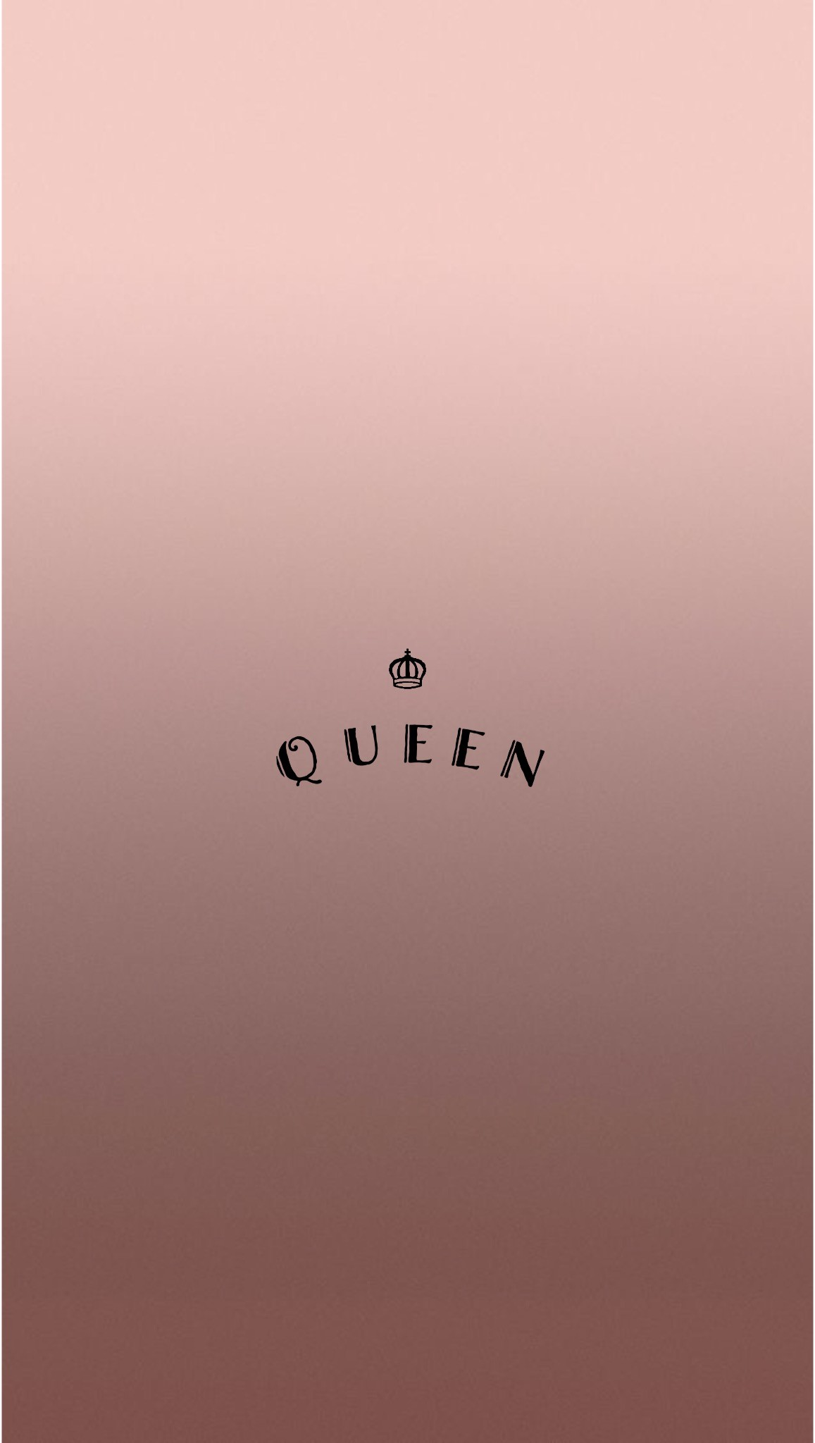 Rose Gold Queen iPhone Wallpaper by @EvaLand