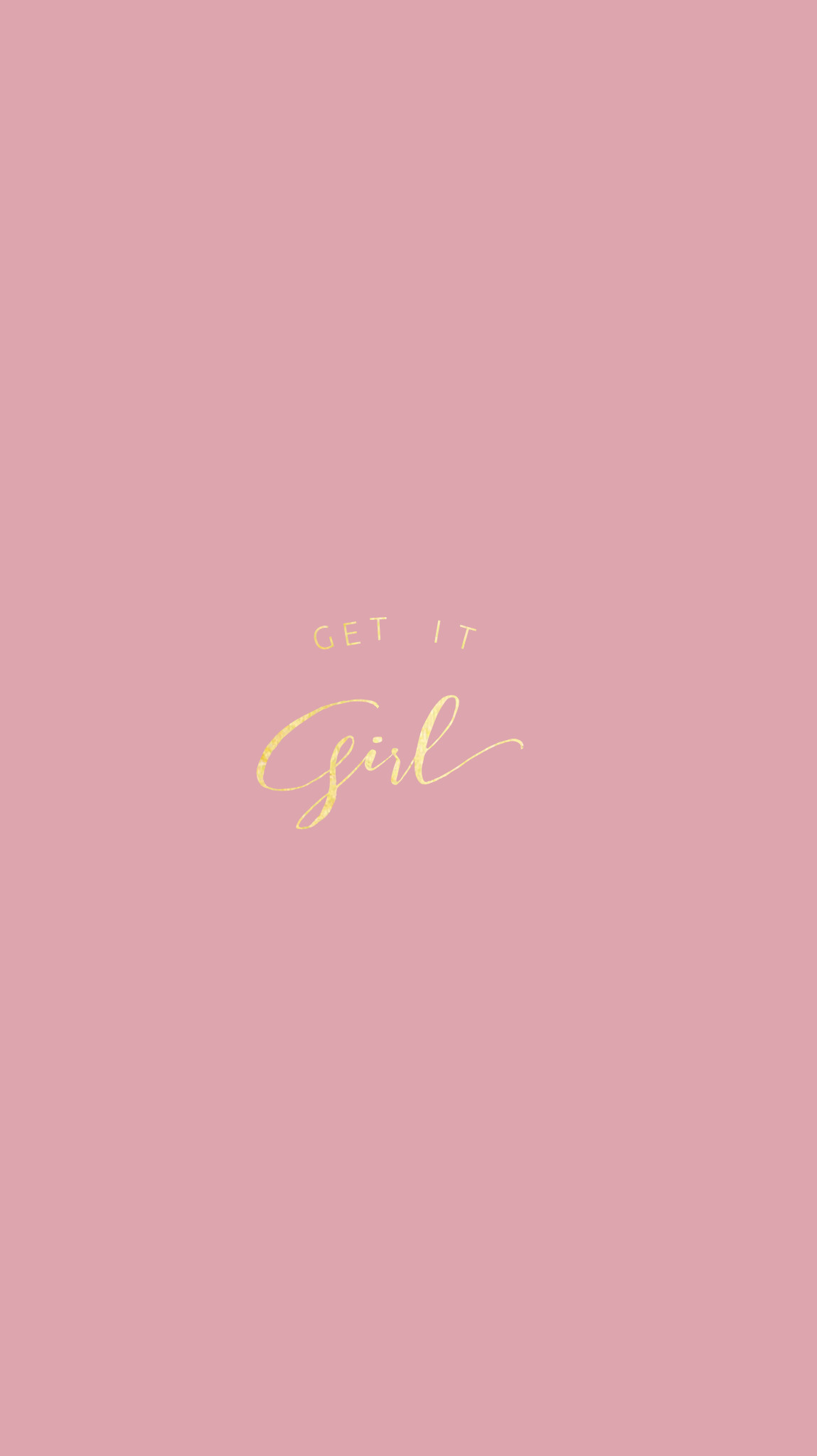 Rose Gold|Pretty Positivity™ iPhone Wallpaper @EvaLand