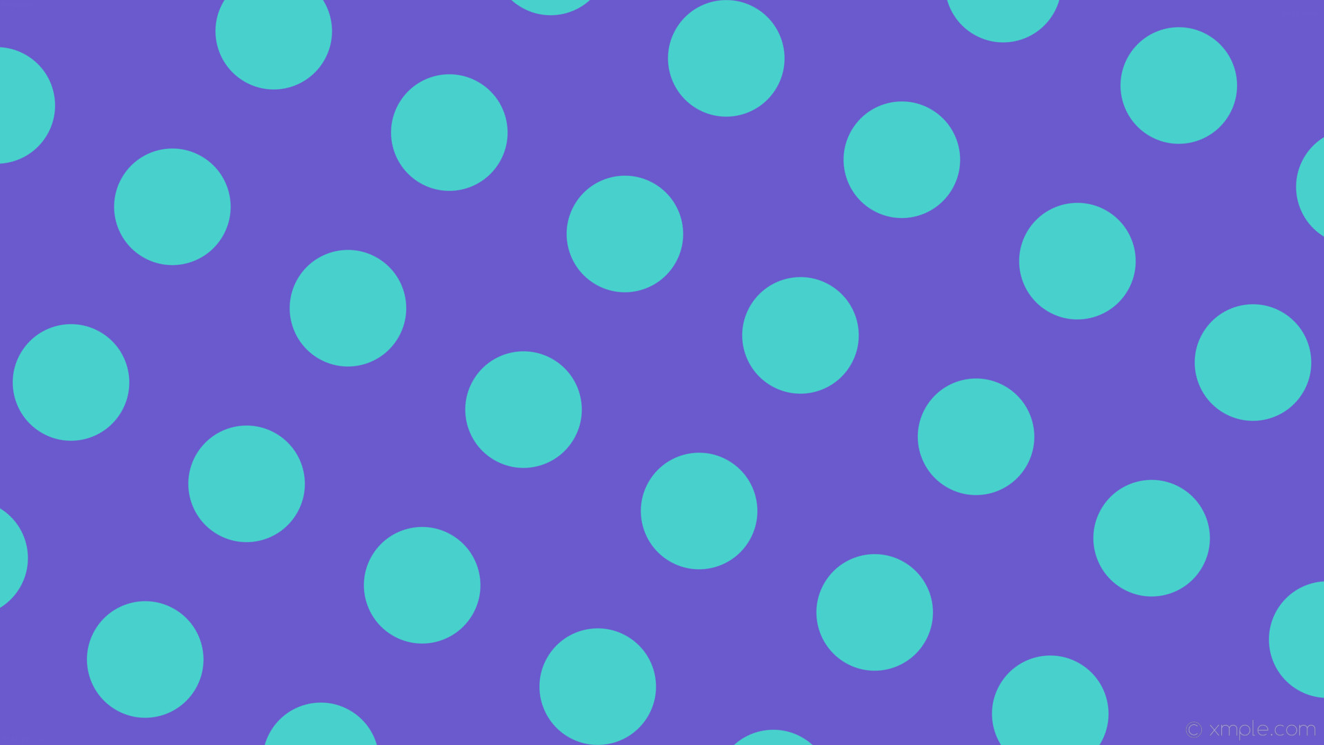 wallpaper blue polka dots purple spots slate blue medium turquoise #6a5acd  #48d1cc 330°