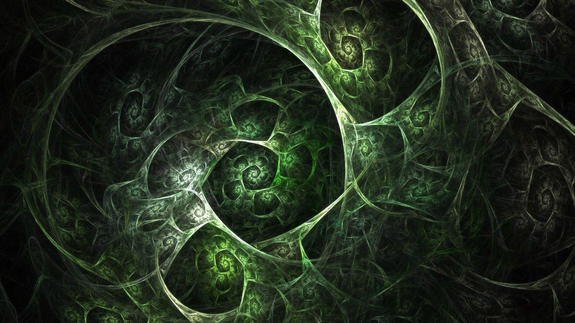 Wallpaper grid, cells, green, black, smoke