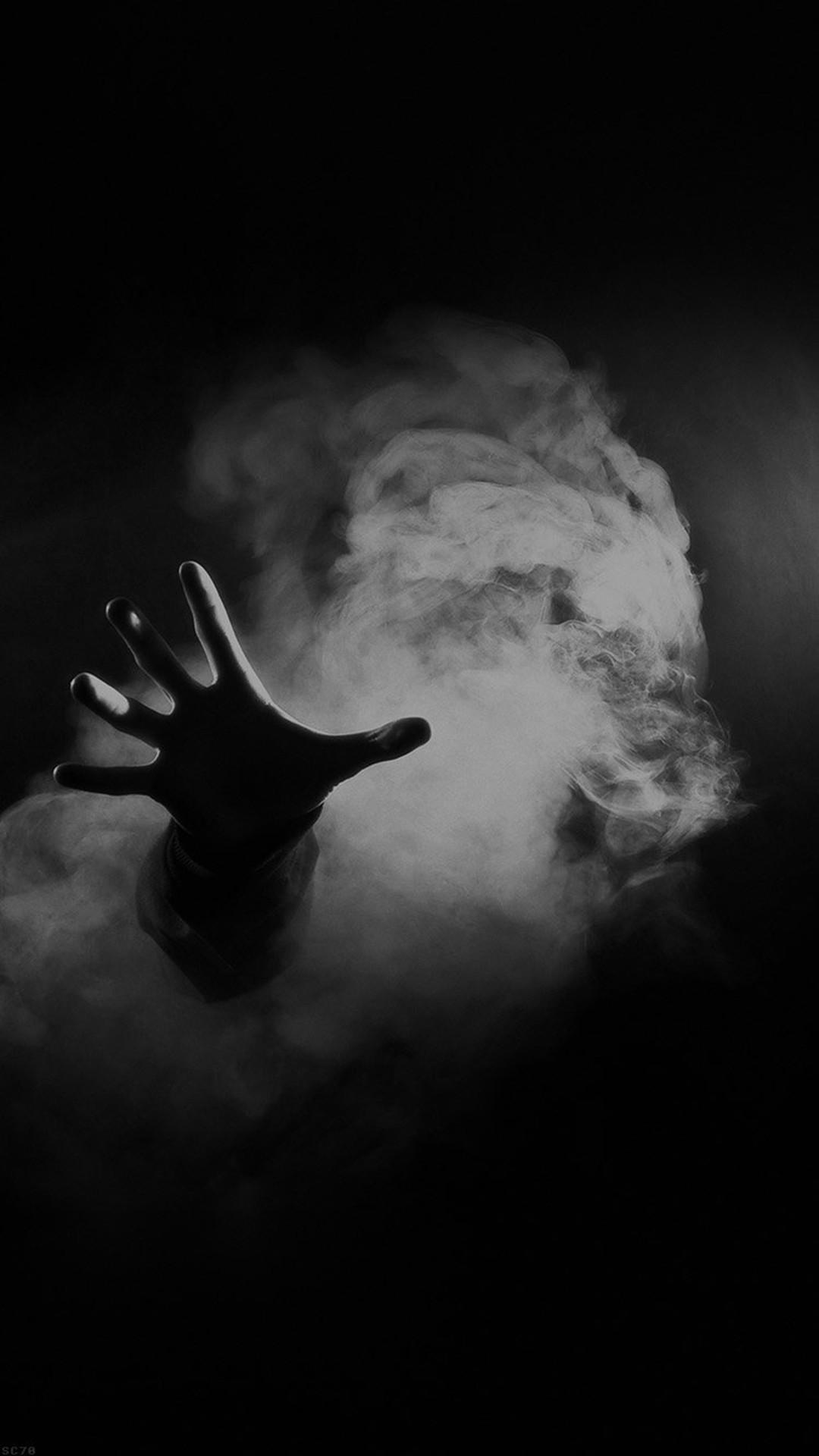 Hand From Smoke Black iPhone 8 wallpaper