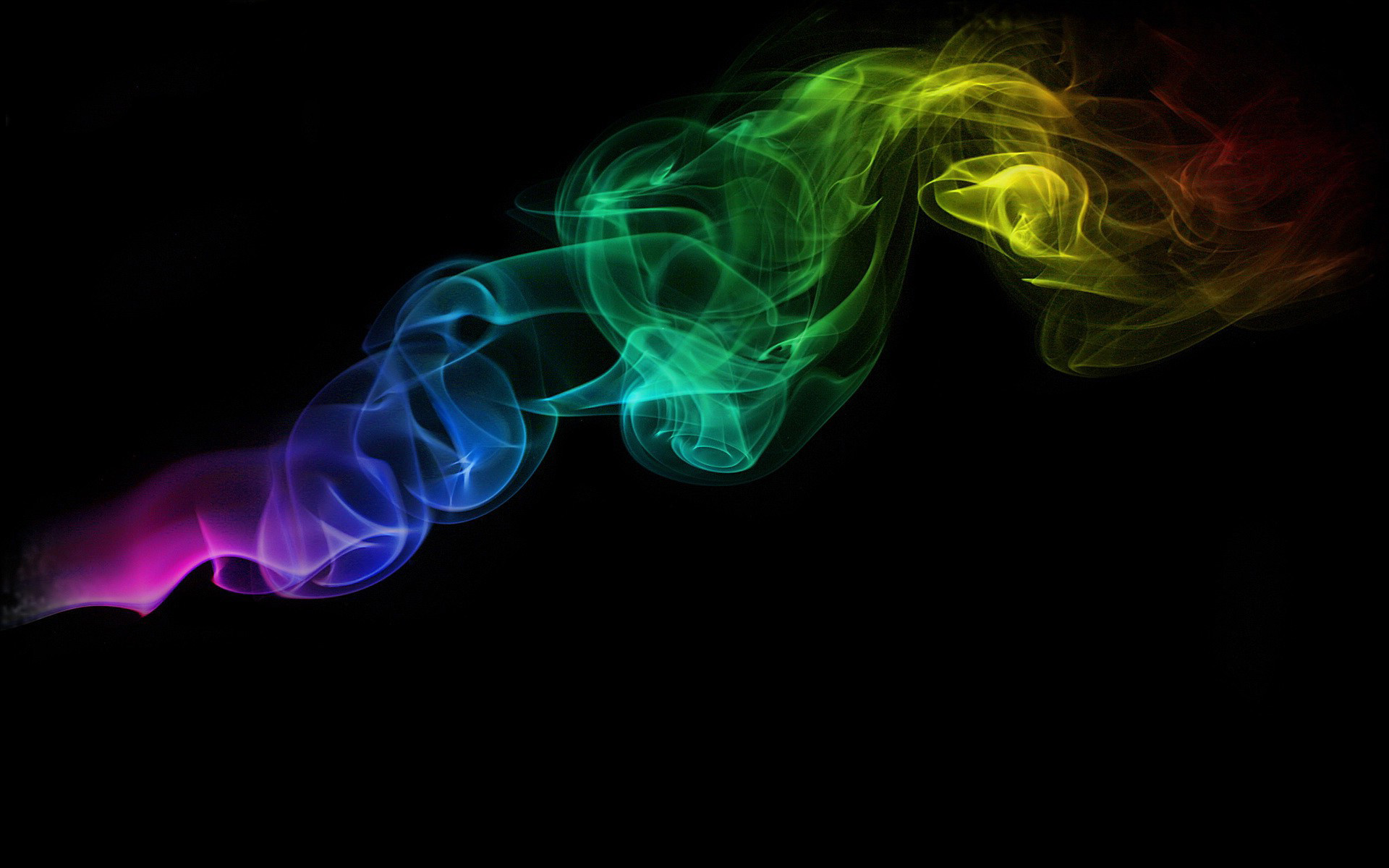 Color Smoke on a Black Background