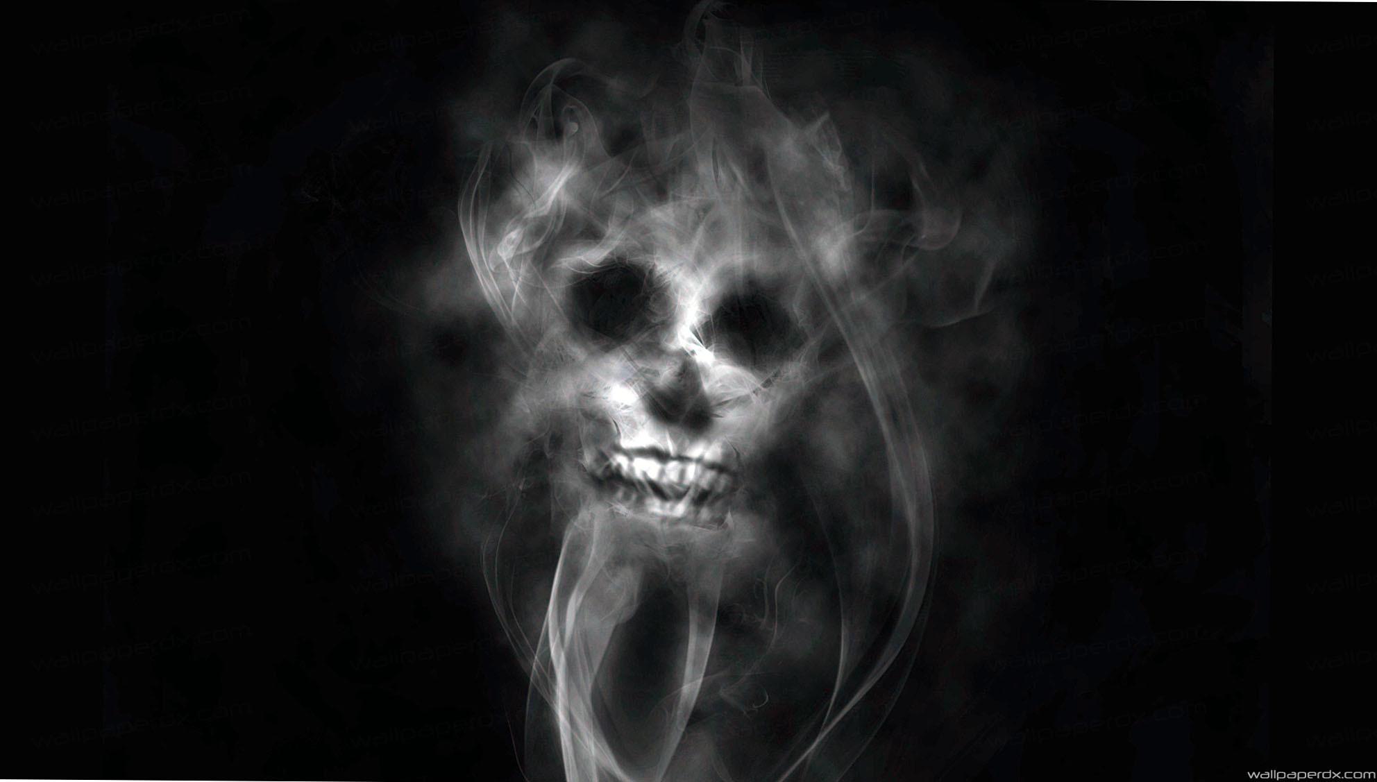 smoke skull light green black full hd wallpaper – Full Hd Original Size