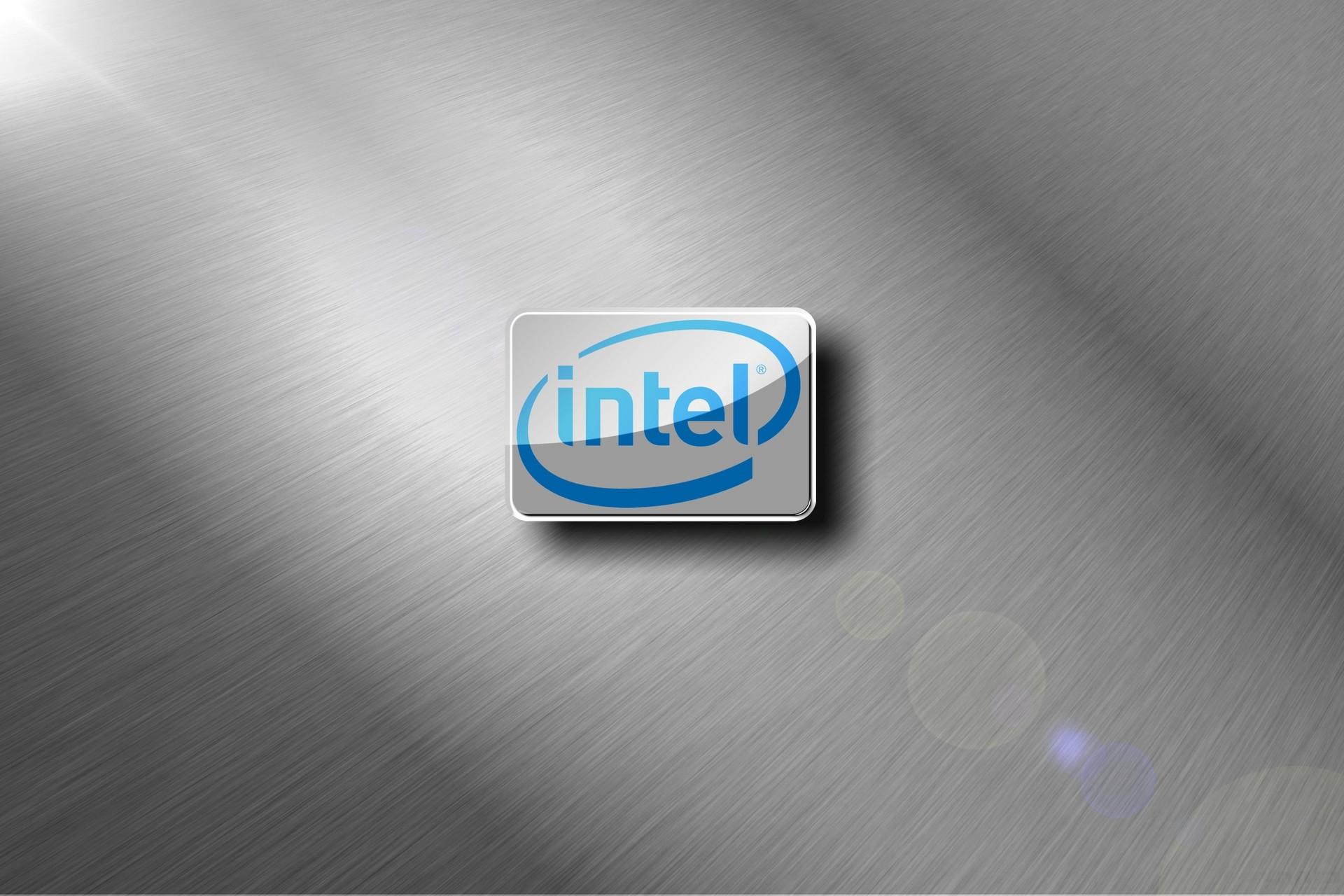 Intel Brushed Metal Chrome