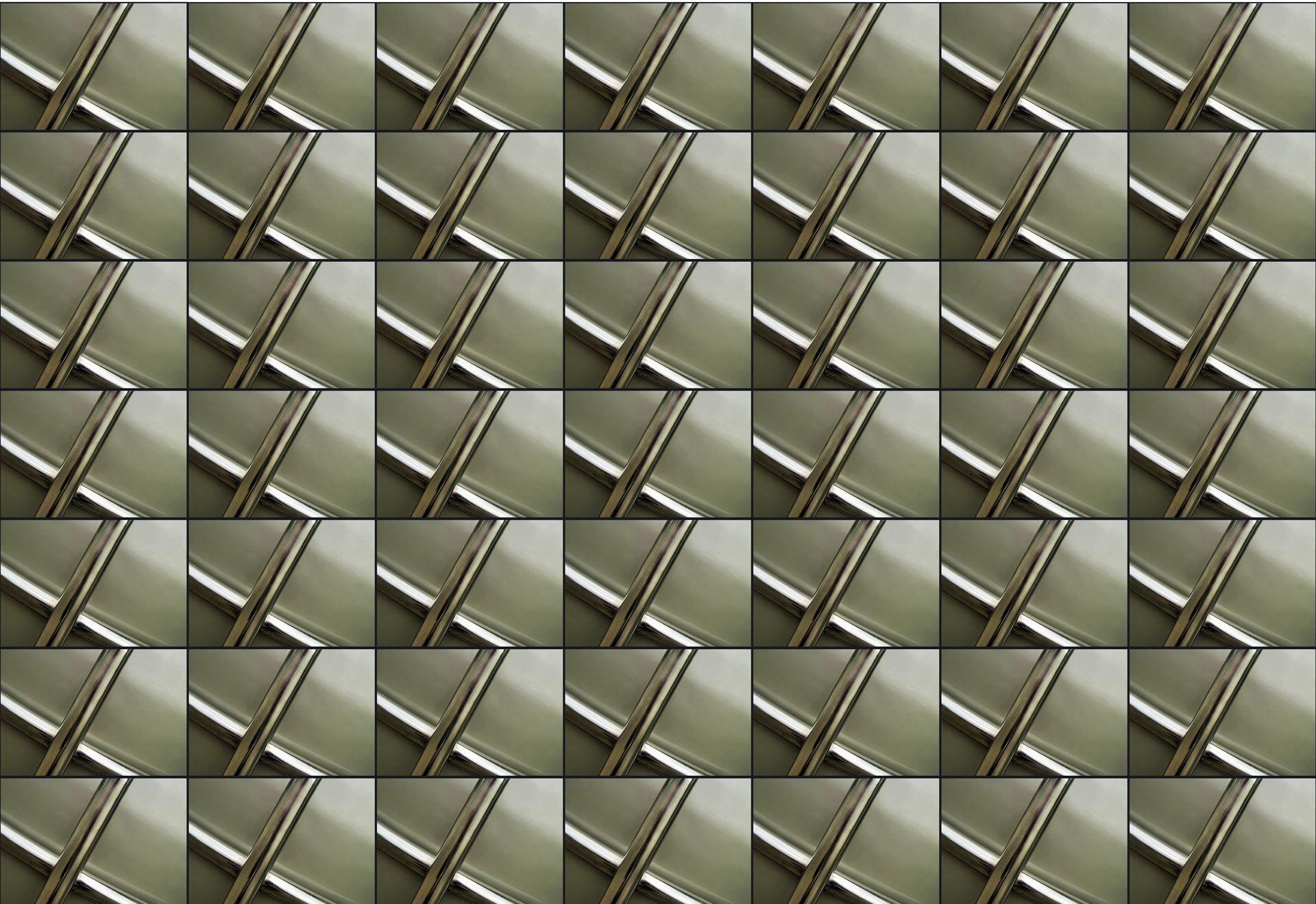 Crossed Chrome Frame Wallpaper