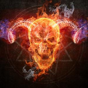 Blue Fire Skull