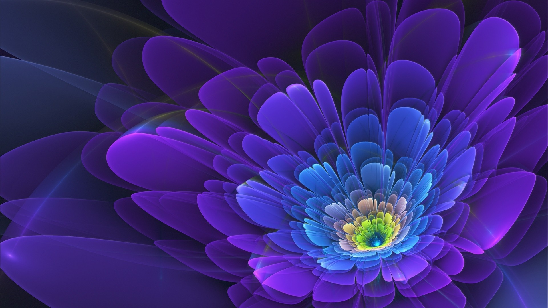 Wallpaper purple, flower, fractal