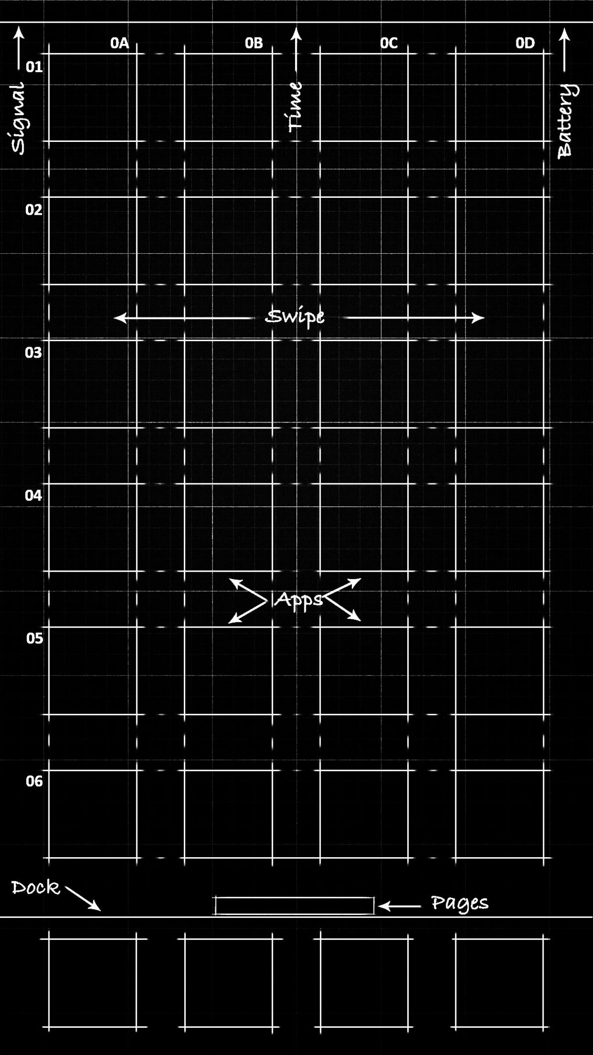 Black Blueprint Wallpaper 55 Inch