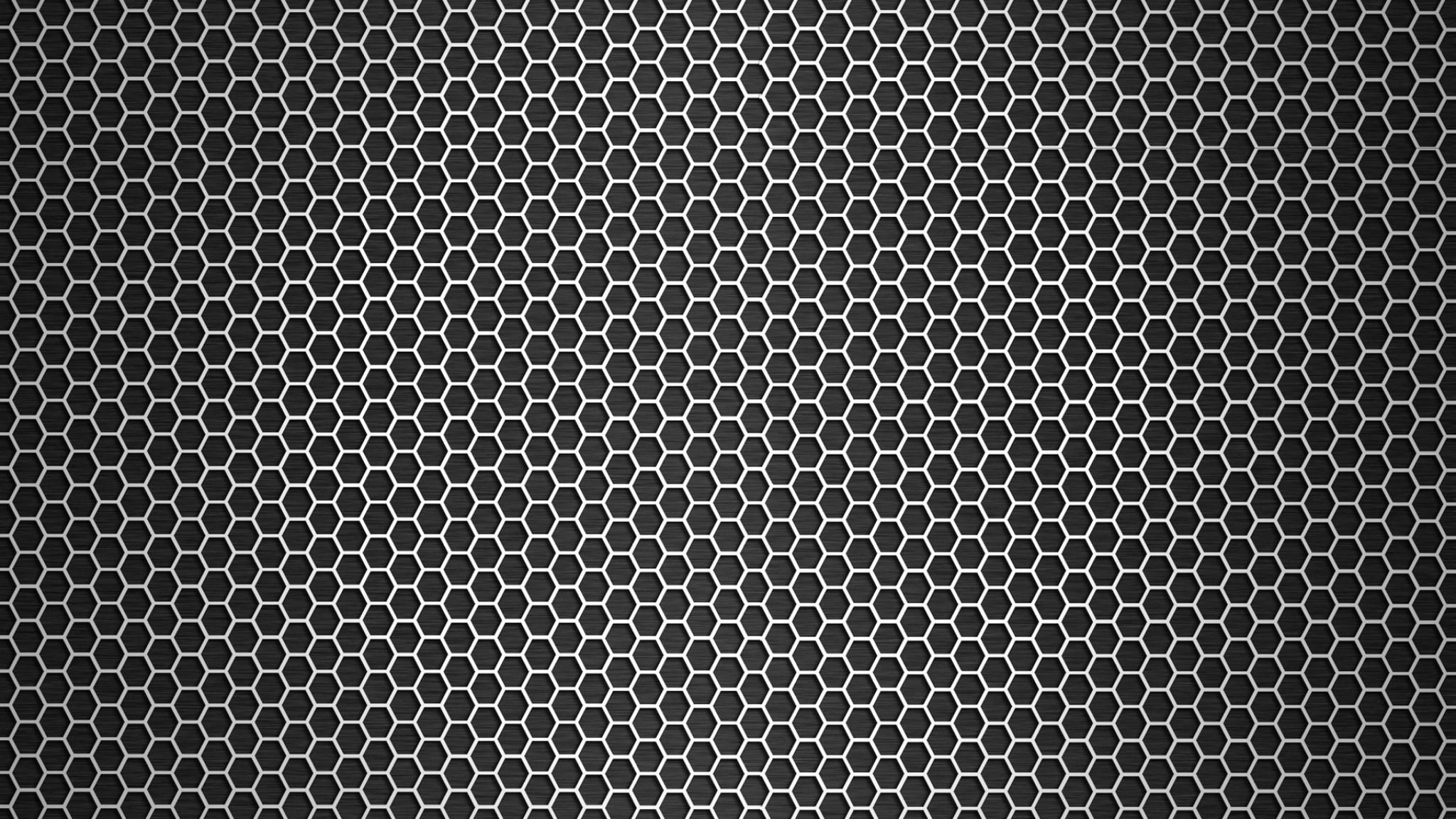 Preview wallpaper grid, circles, metal, dark, texture 2048×1152