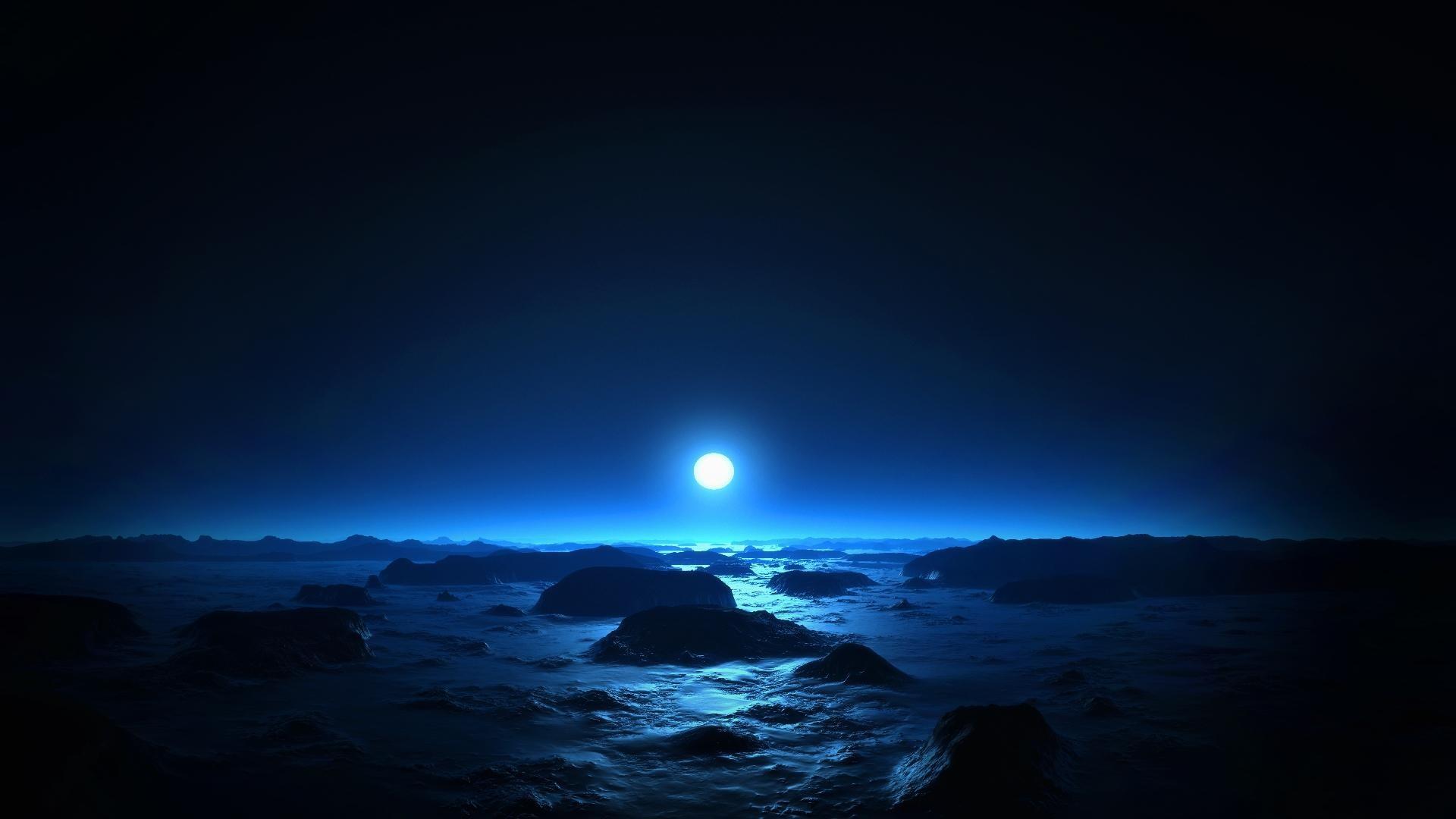 Blue Moonshine, Desktop Wallpaper