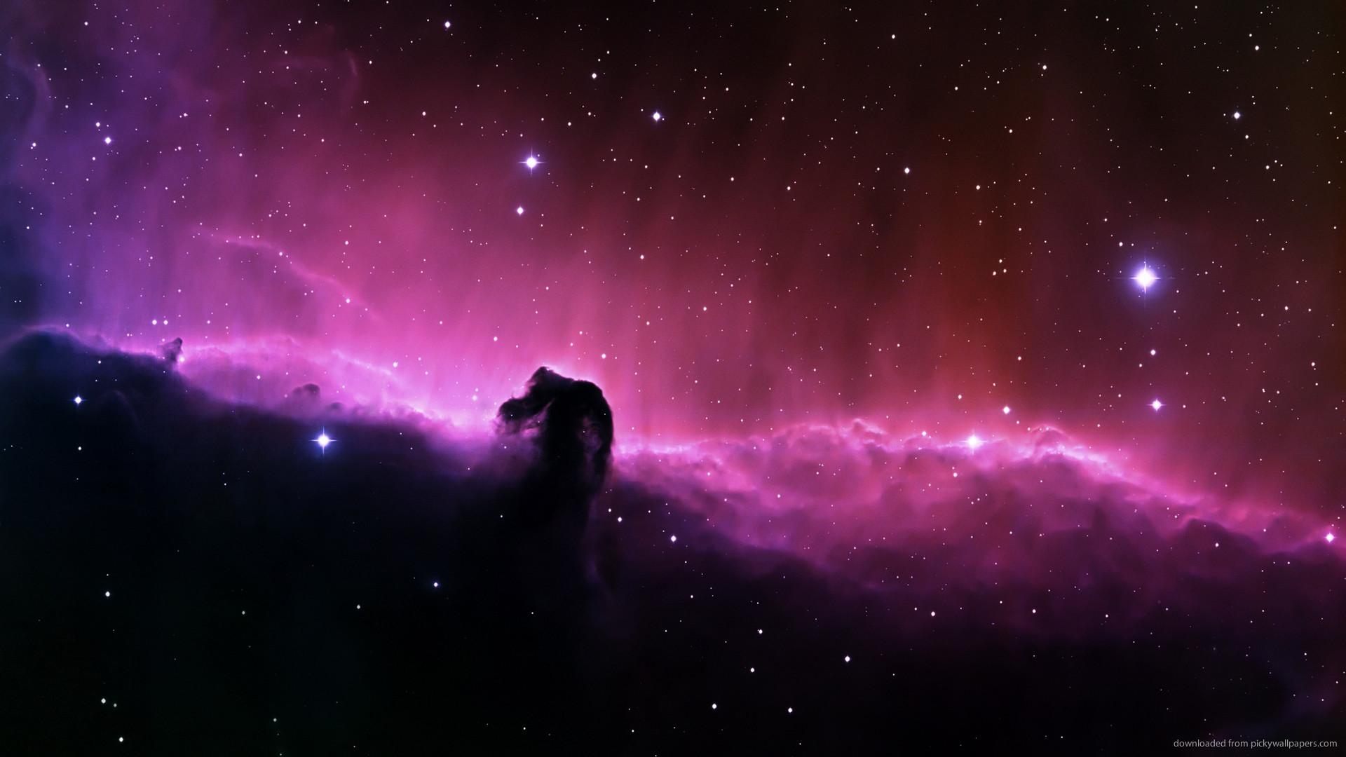 HD Purple Space Landscape wallpaper
