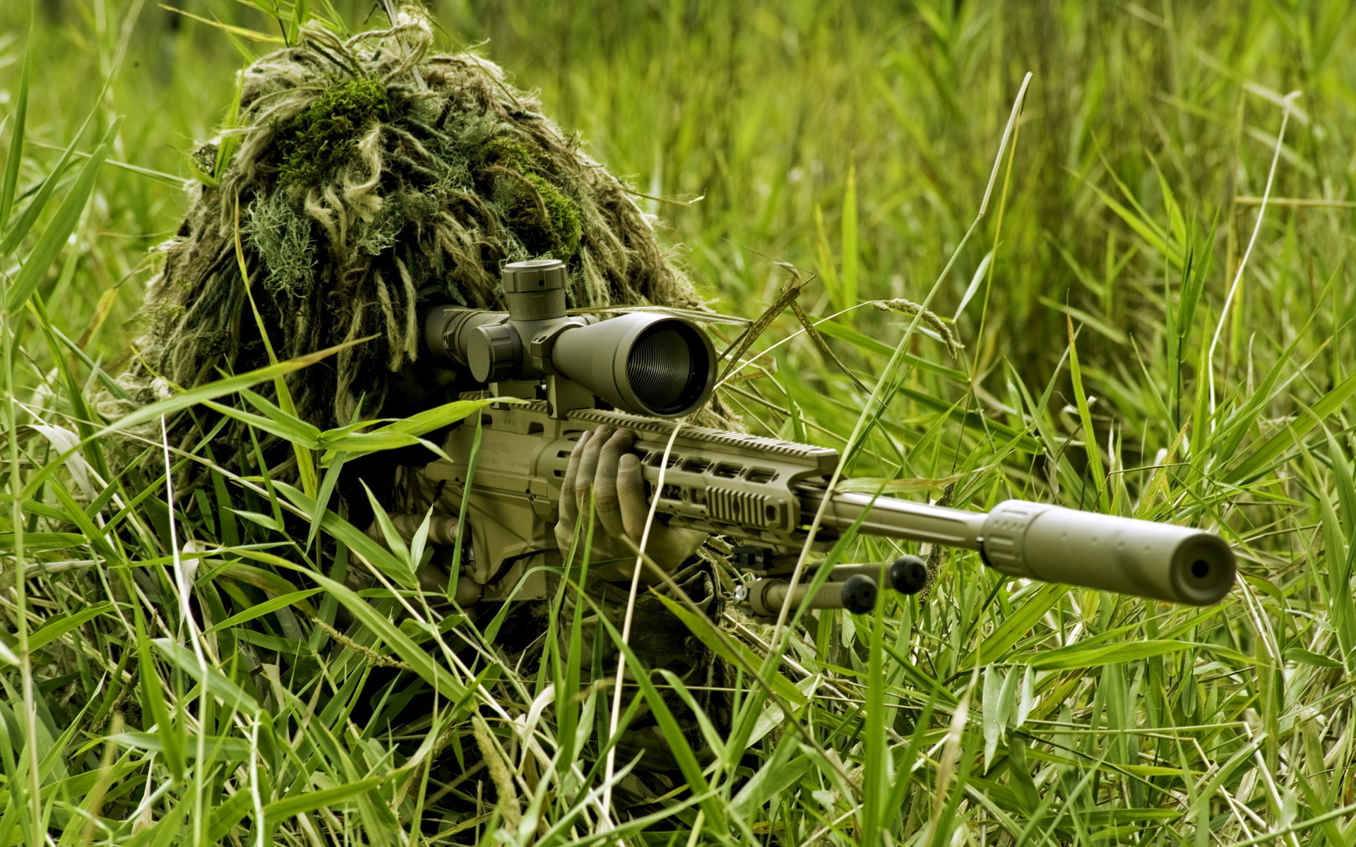 Wallpaper Sniper rifle Snipers Soldiers Camouflage Army 1920×1200