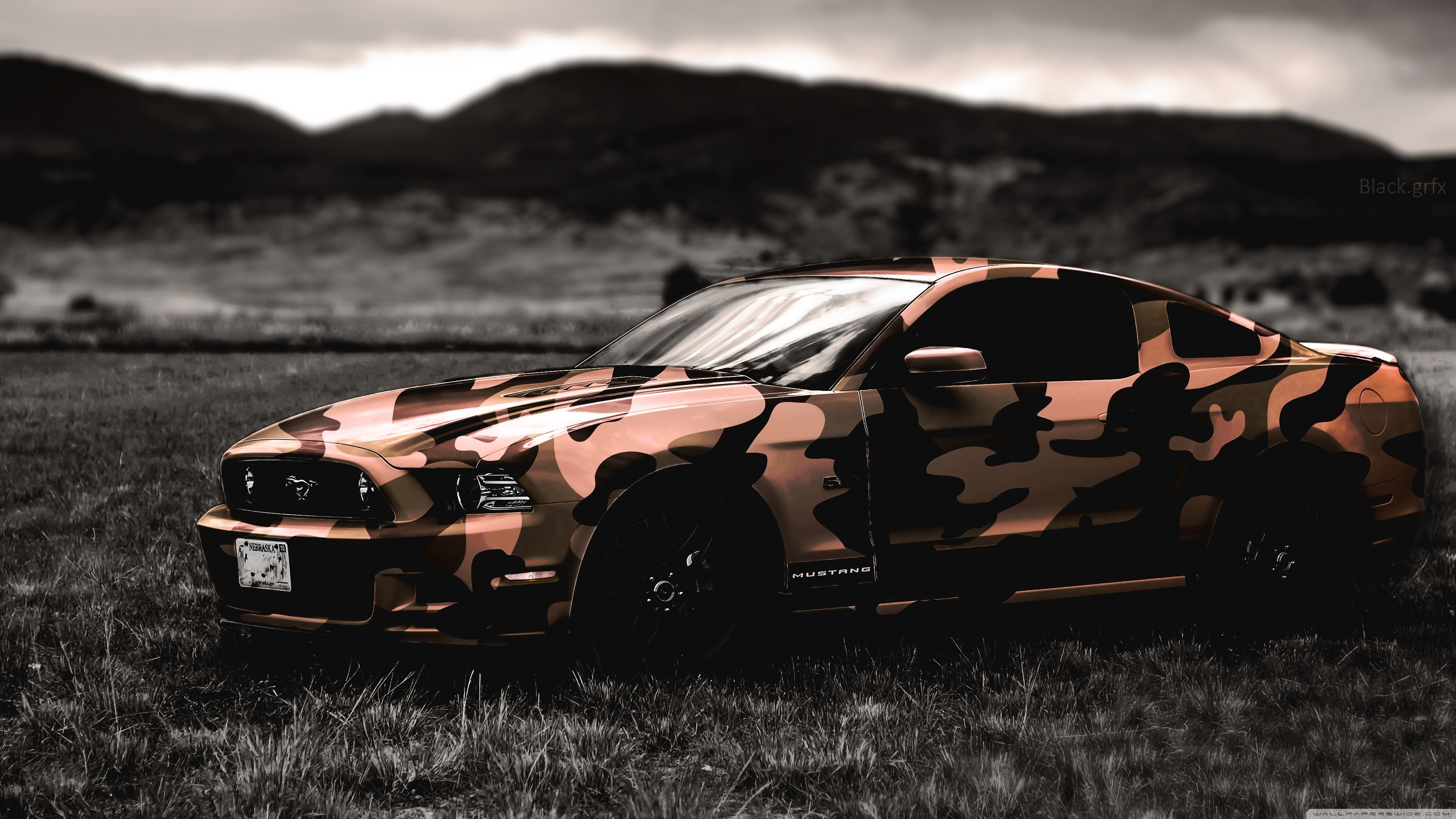 Ford, Ford Mustang, Army, Camouflage, Car Wallpapers HD / Desktop and  Mobile Backgrounds