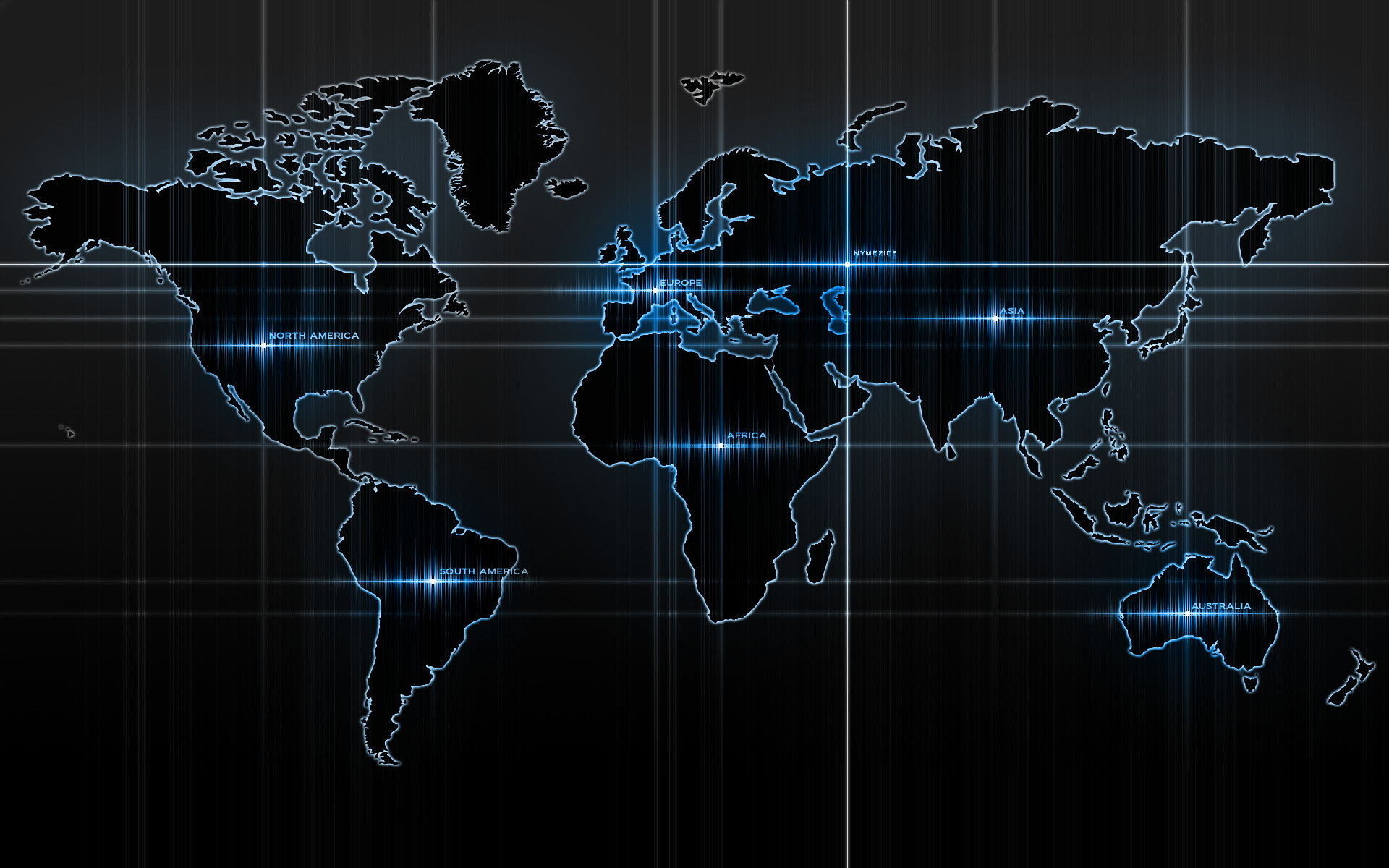 World Map Black Desktop Wallpaper