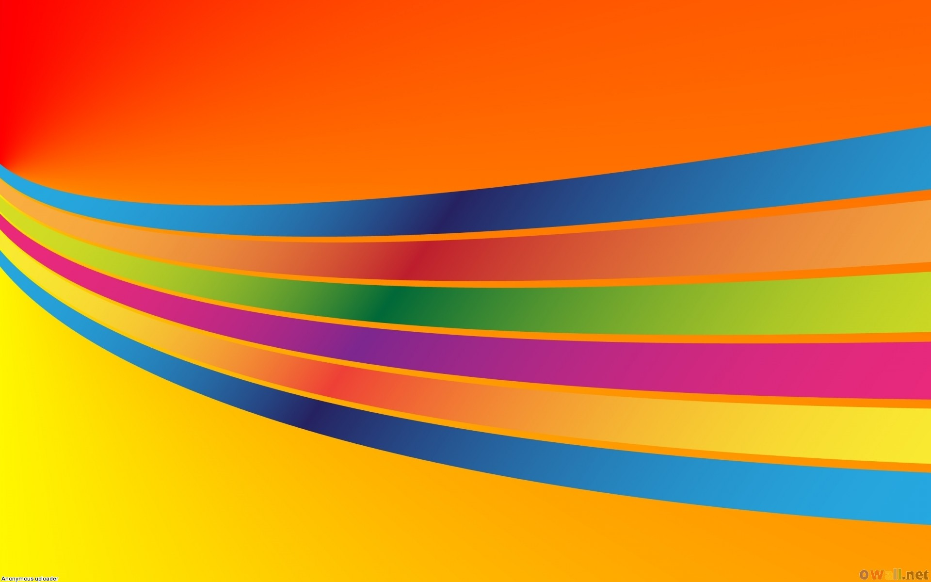 Colored lines on orange background wallpaper #17341 – Open Walls