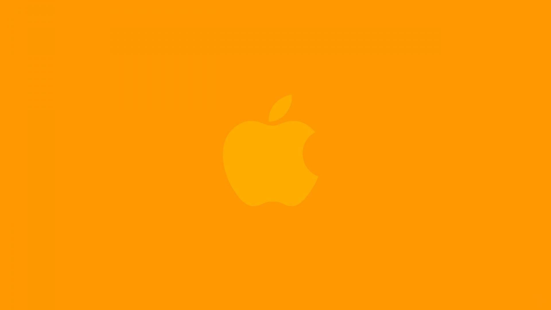 hd pics photos orange cute apple logo best 2 desktop background wallpaper