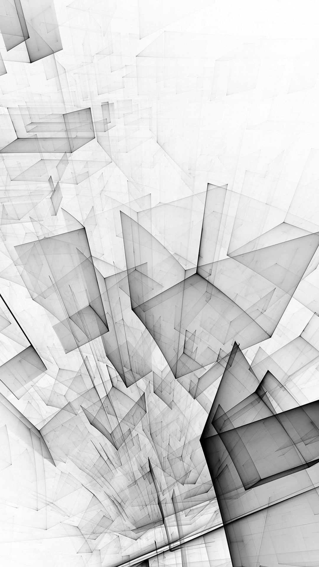 Abstract Bw White Cube Pattern iPhone 8 wallpaper