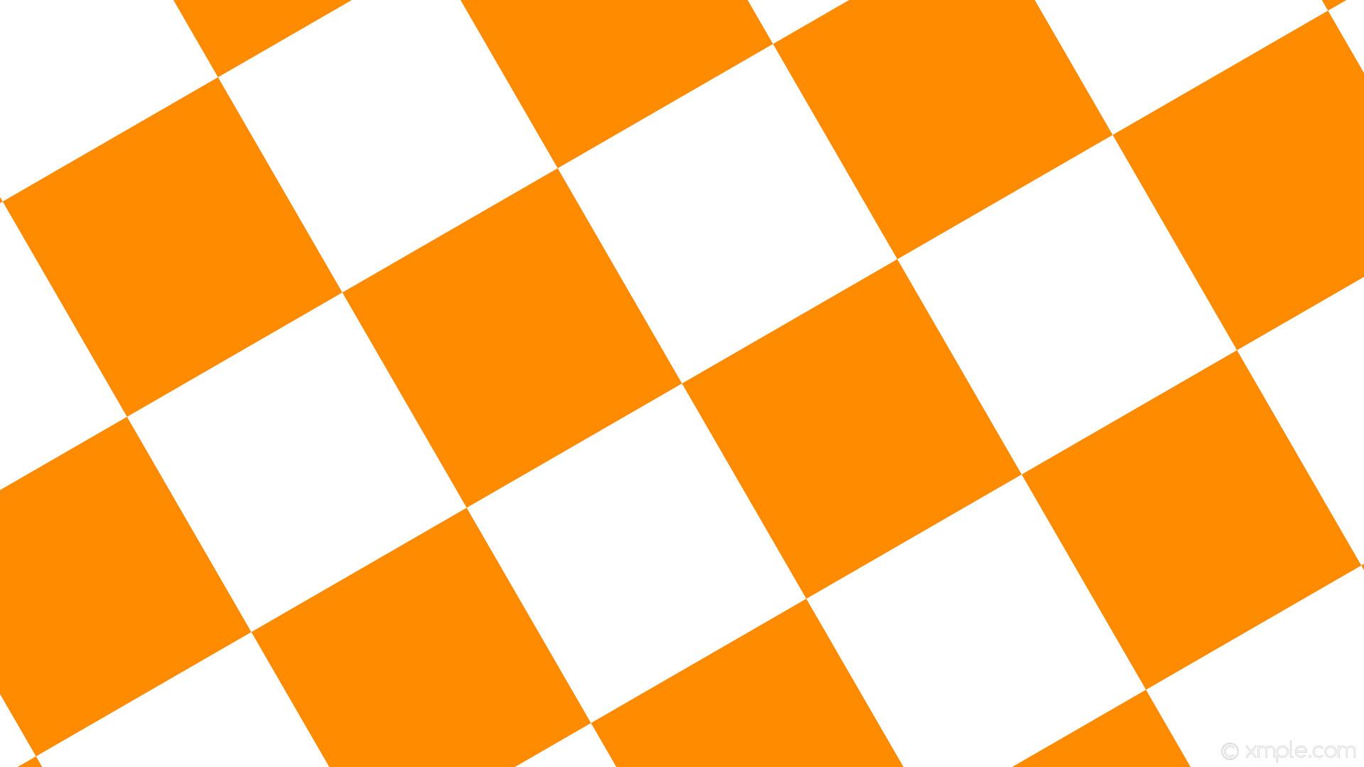 wallpaper squares checkered orange white dark orange #ff8c00 #ffffff  diagonal 30° 350px