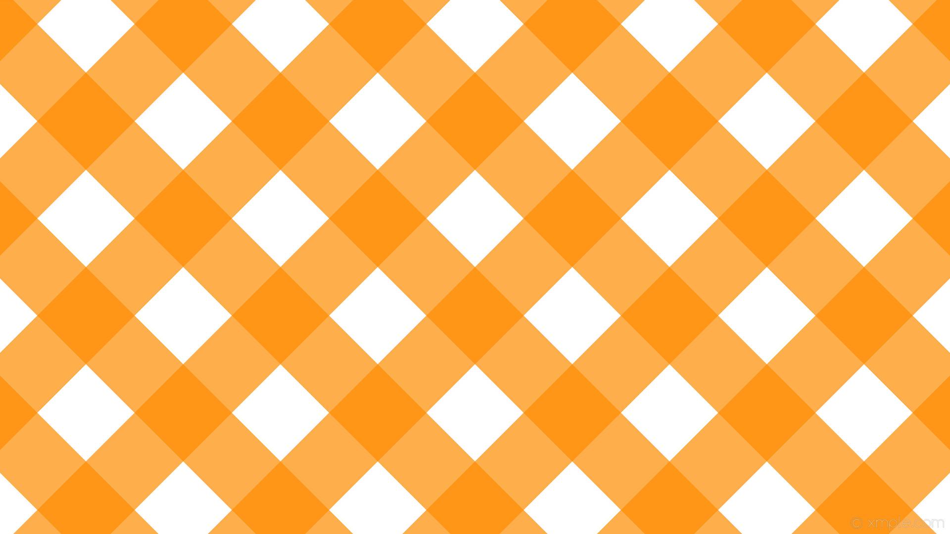 wallpaper orange gingham white checker striped dark orange #ffffff #ff8c00  315° 139px