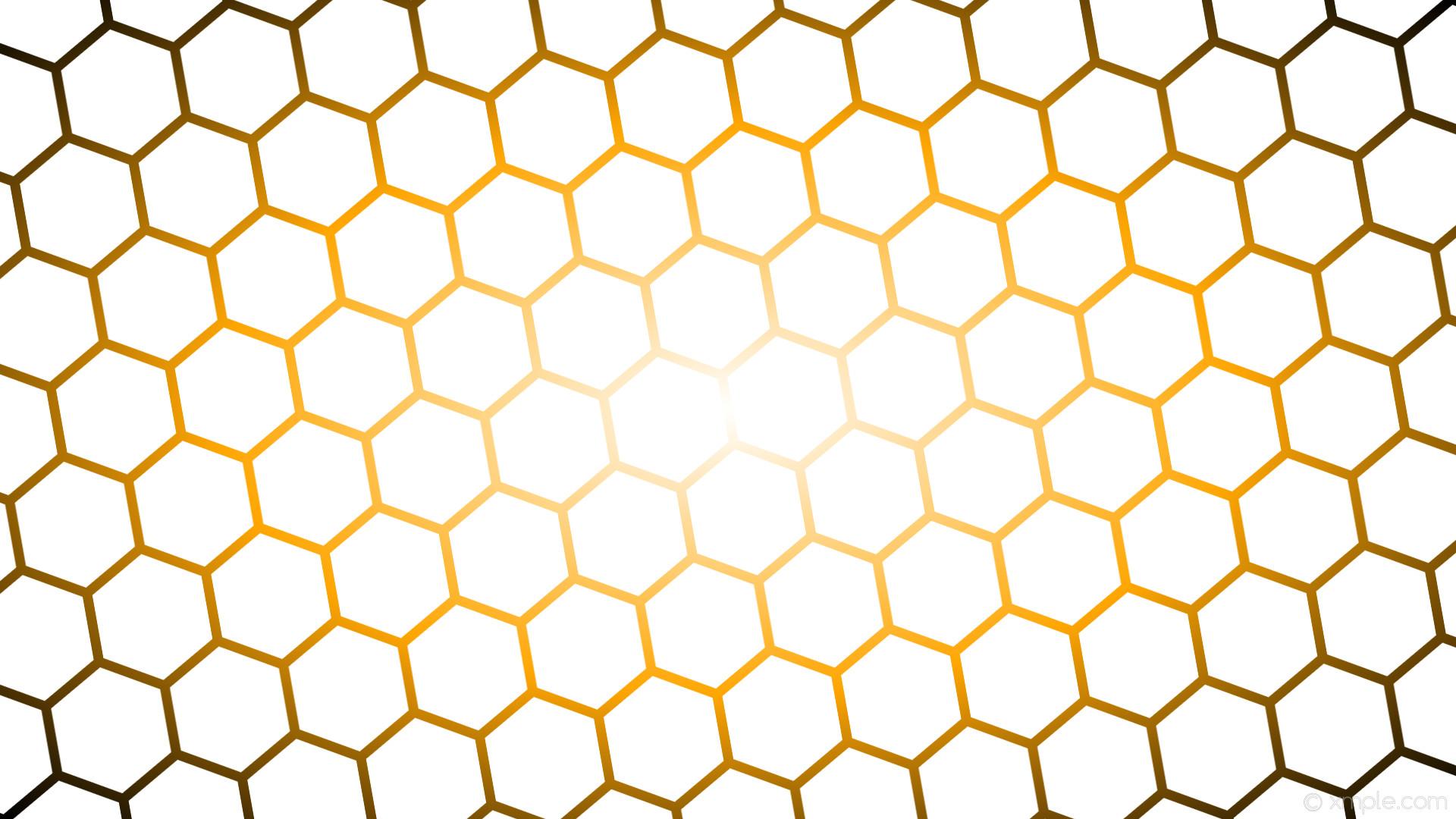 wallpaper black orange glow gradient hexagon white #ffffff #ffffff #ffa500  diagonal 10°
