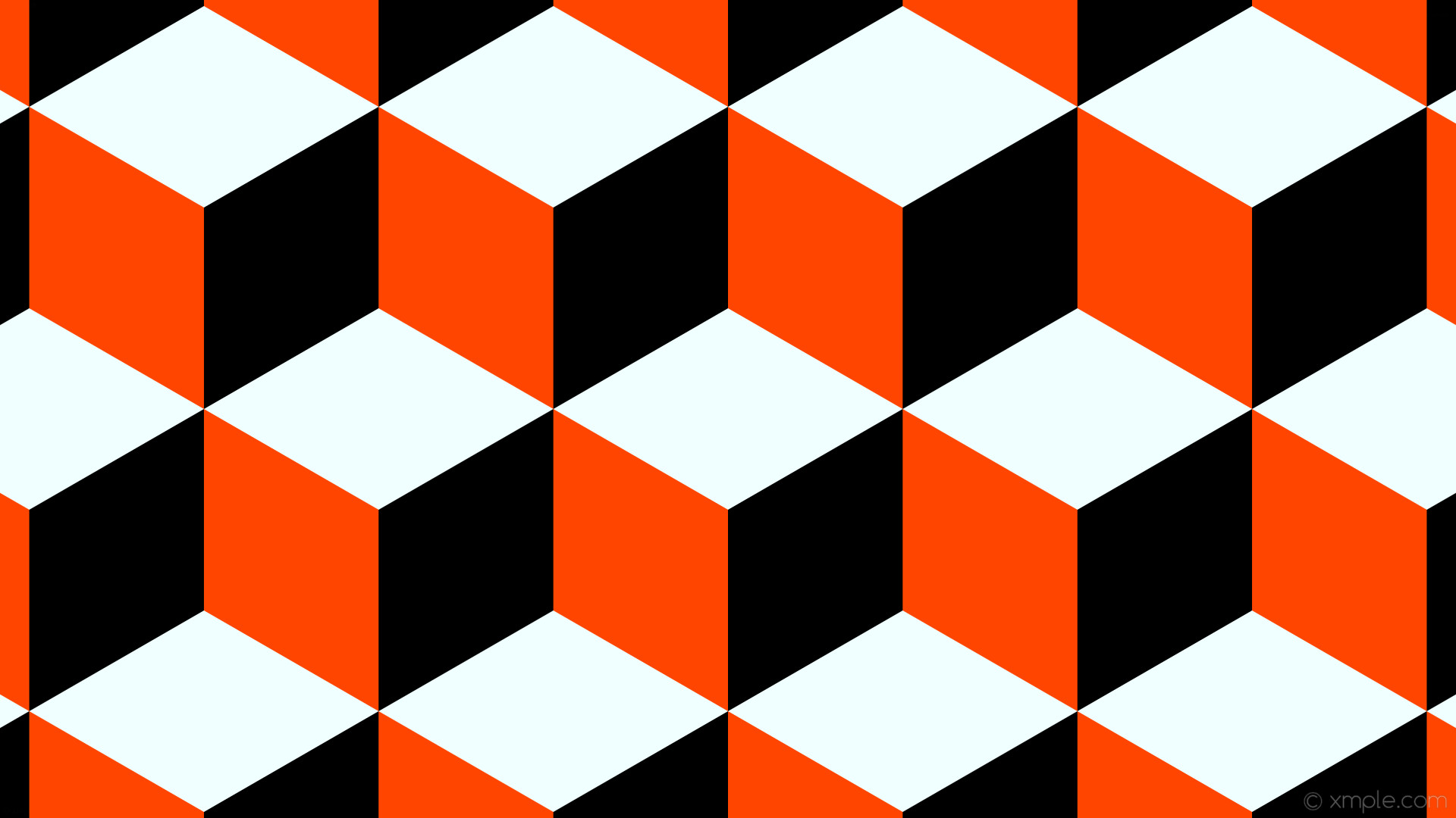 Orange Black And White Wallpaper