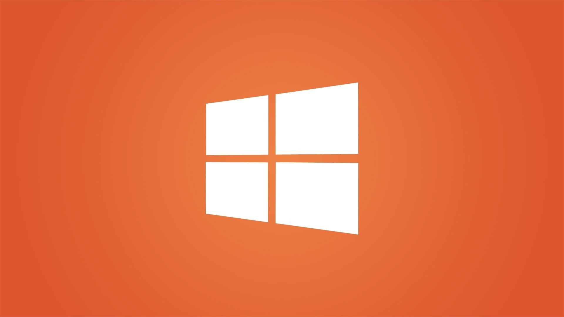 Clean Windows 8 White Logo on Orange