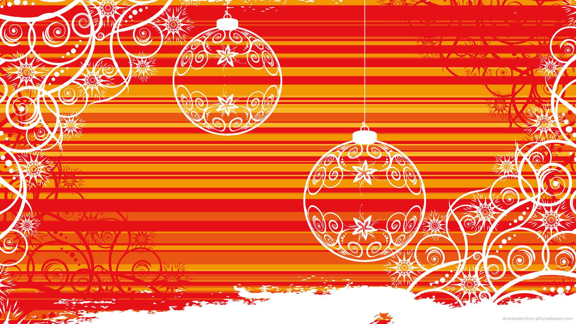 HD Orange stripes and white balls wallpaper