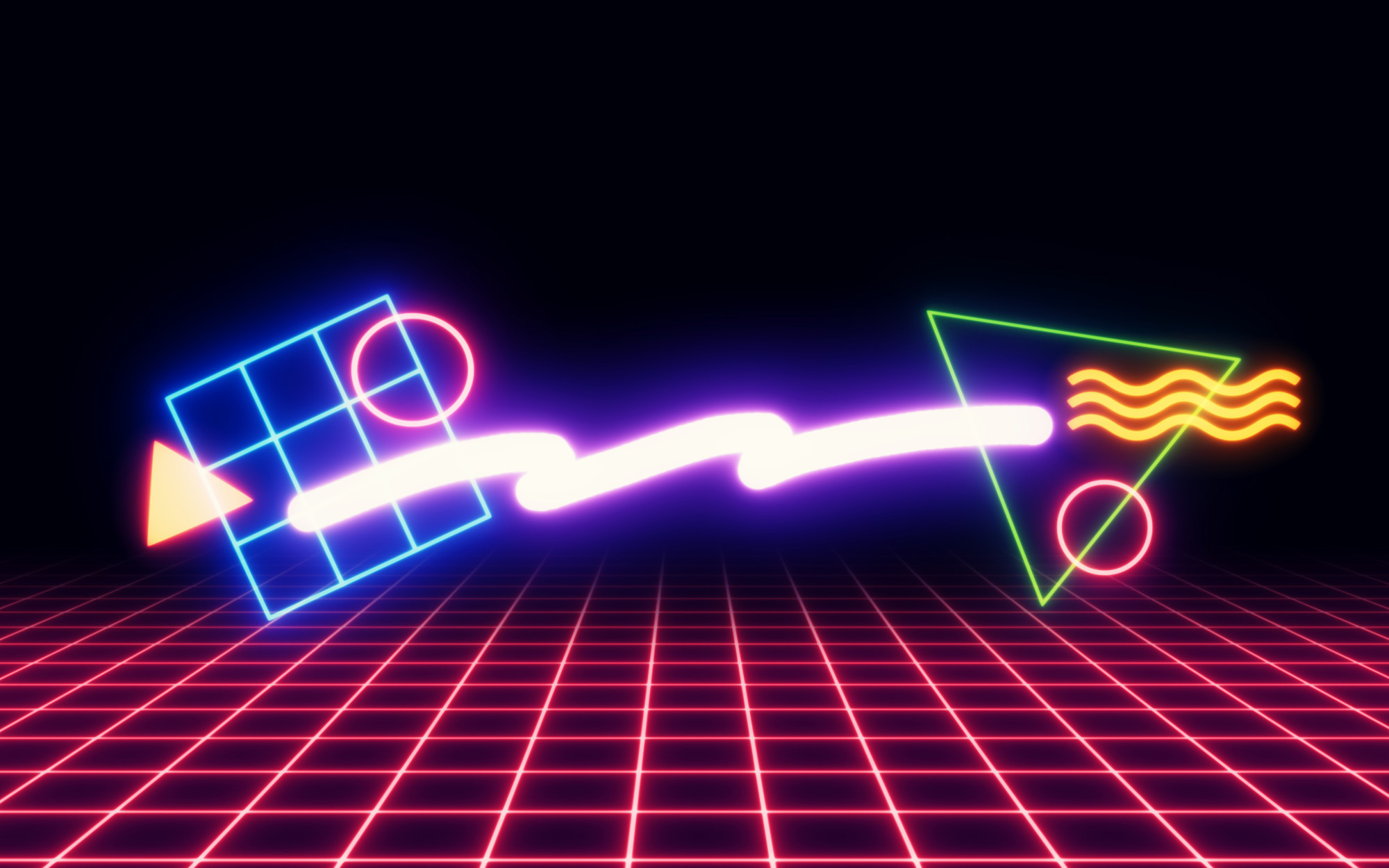 '80s Neon Shapes/Wallpapers on Behance