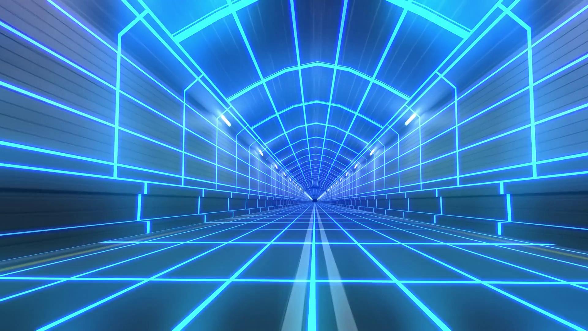 Loop tunnel 80s retro tron future wireframe arcade road tube subway neon  glow 4k Motion Background – VideoBlocks