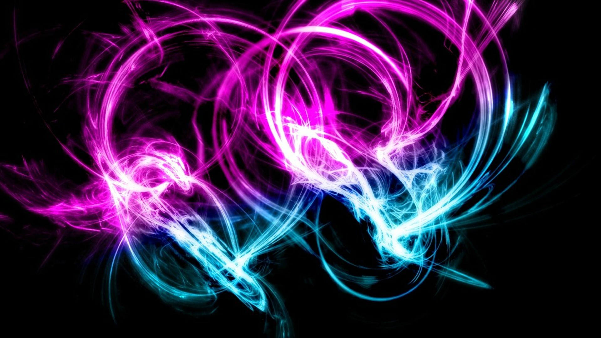 Preview wallpaper neon, patterns, cluster, background 1920×1080