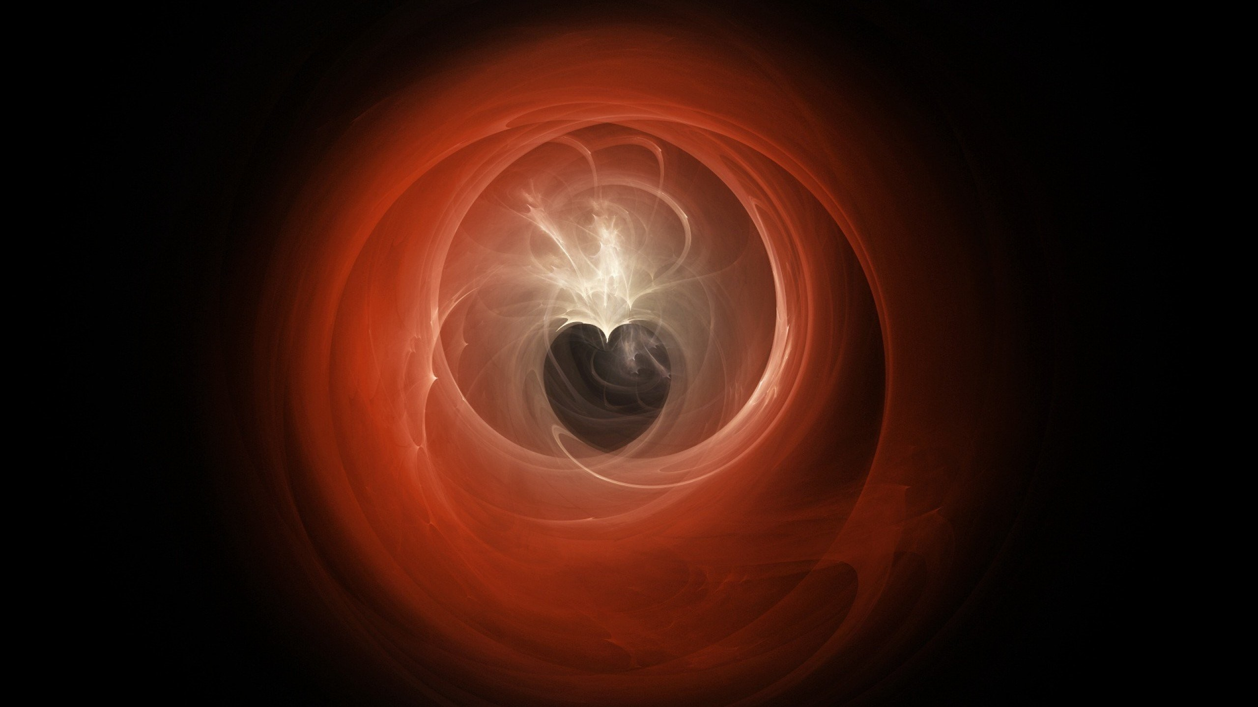 Dark Abstract Background Hearts …