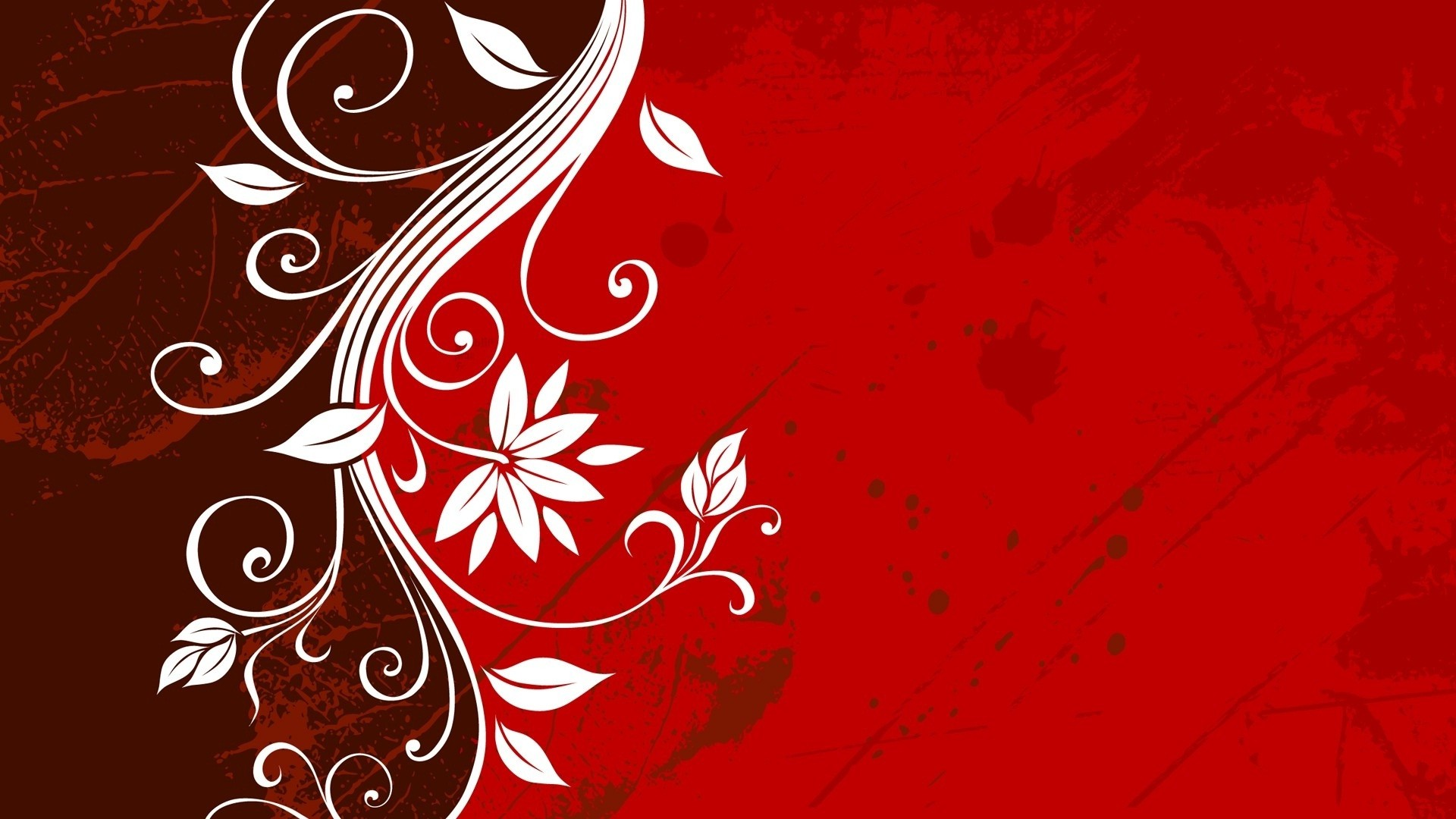 Awesome flowery design dark red background wallpapers