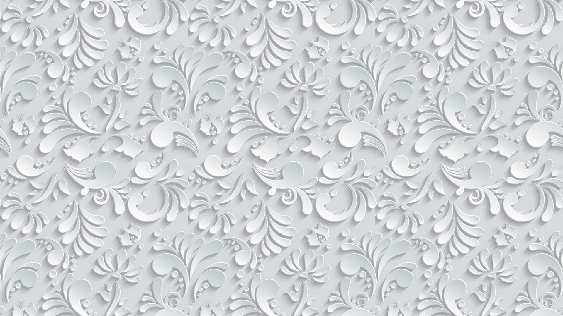 Vector Floral 3d Seamless Pattern on grey background wallpaper 4K Ultra HD  Desktop