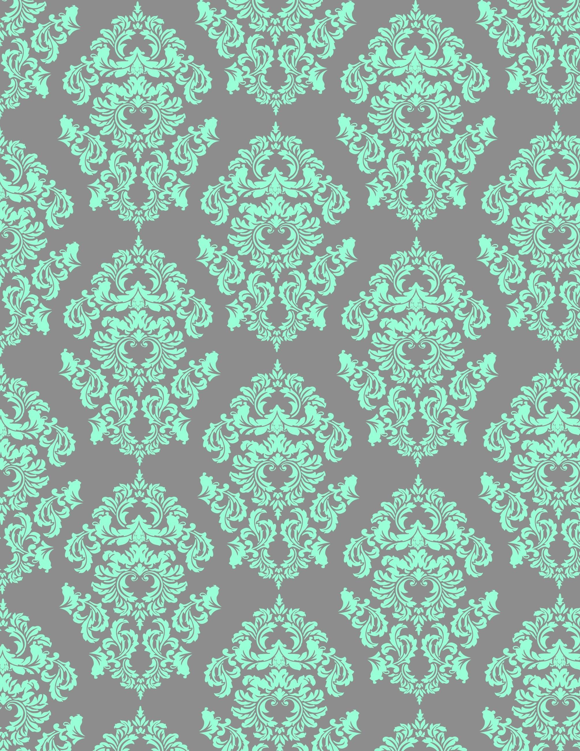 aqua damask looks great on gray background. Iphone BackgroundsWallpaper …