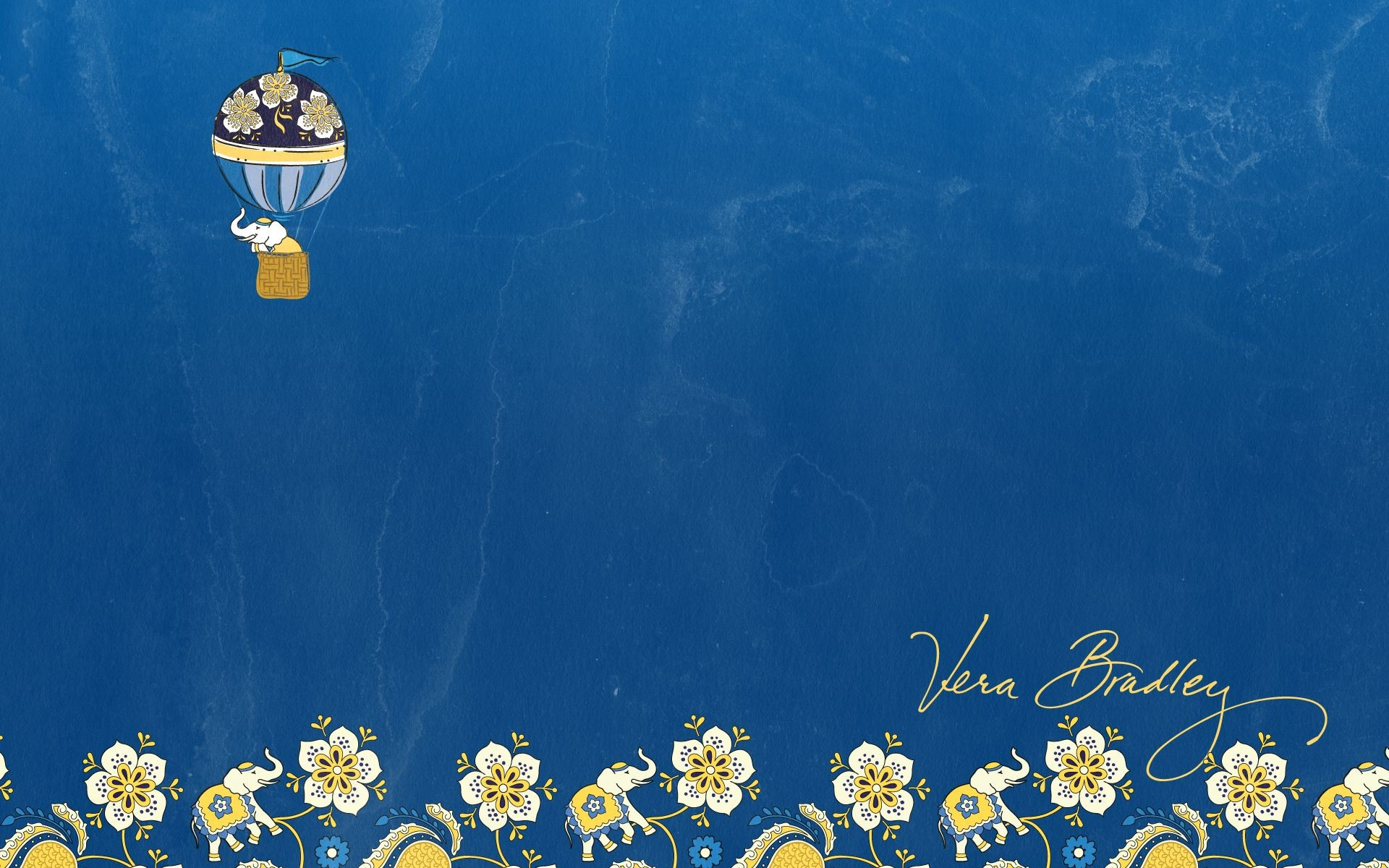 Vera Bradley Desktop Wallpaper in Ellie Blue