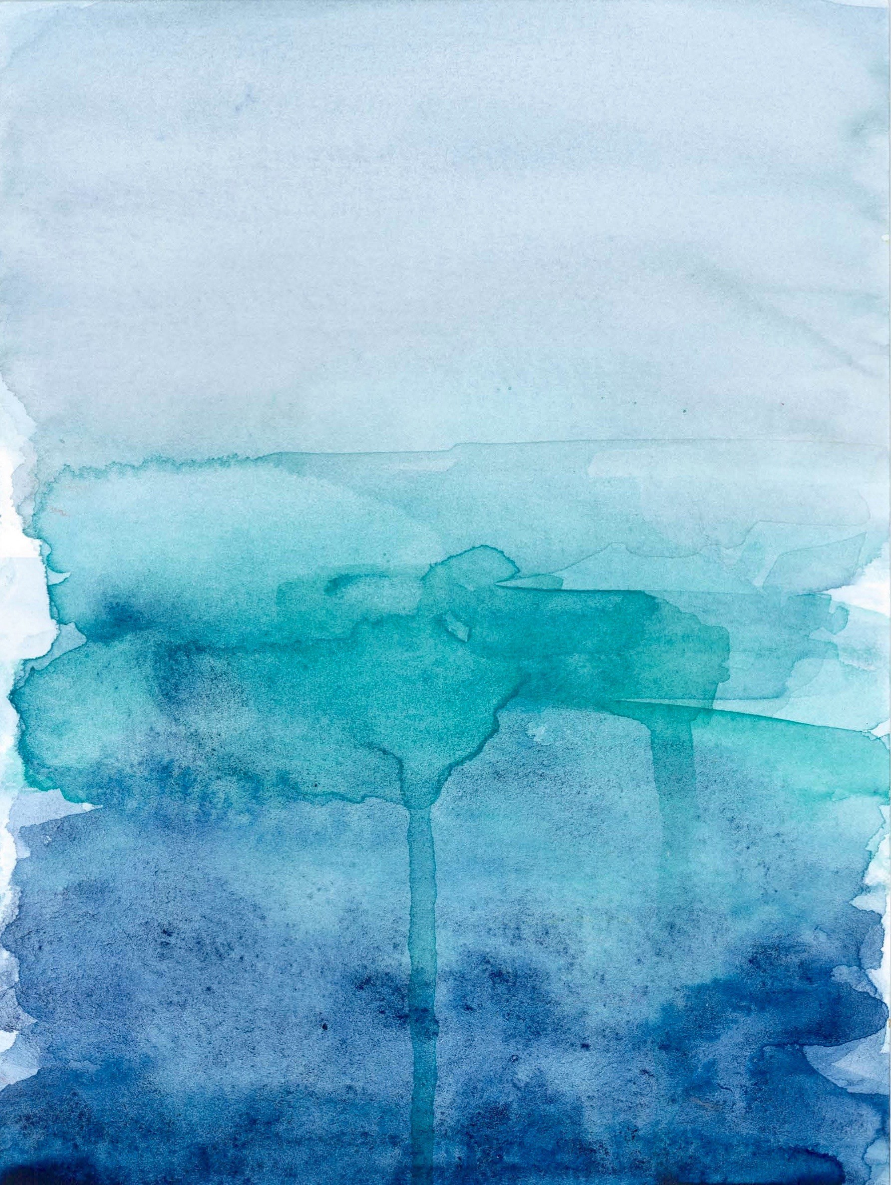 blue ombre watercolour