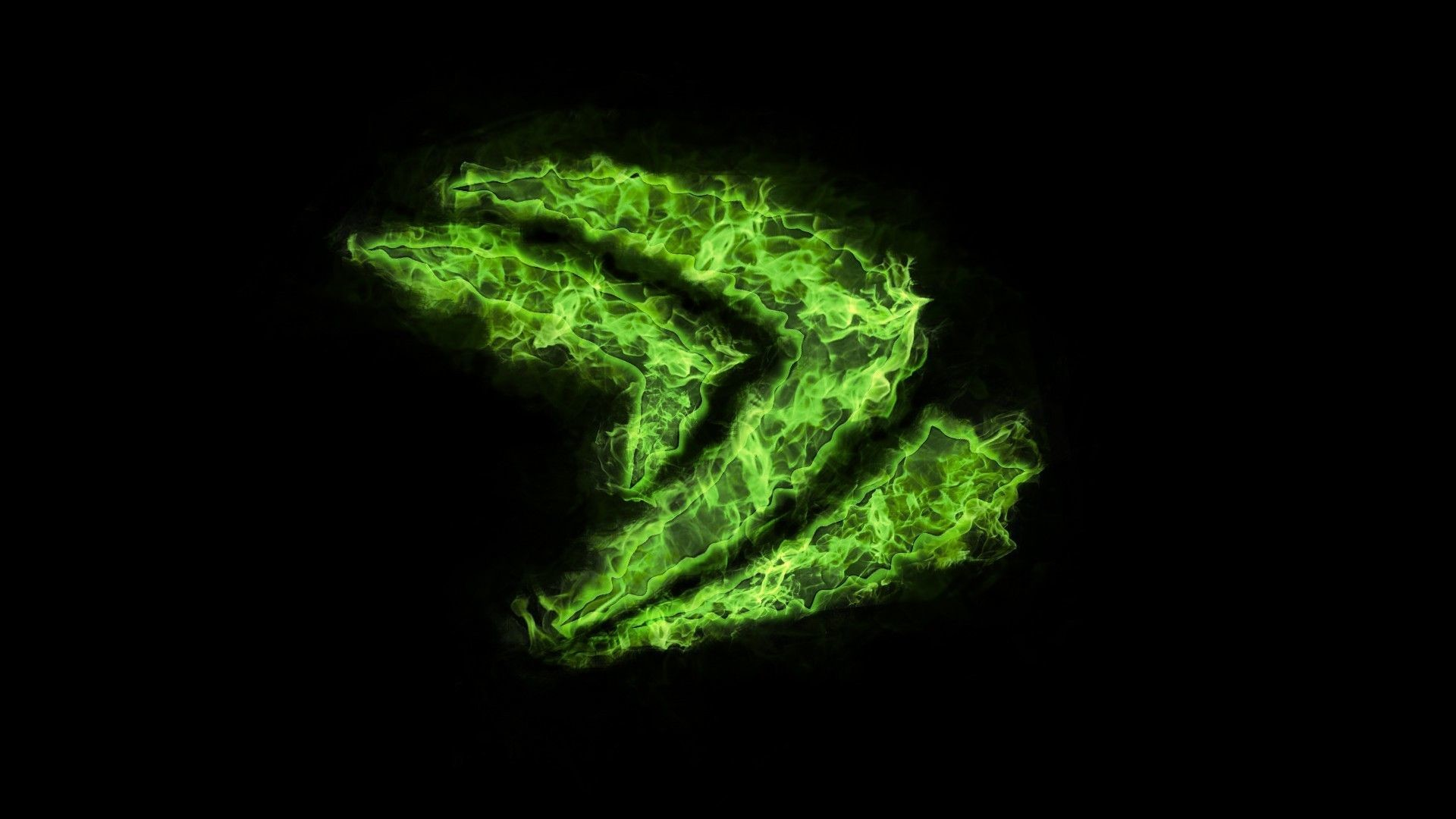 Logo Nvidia green flame wallpapers and images – wallpapers .