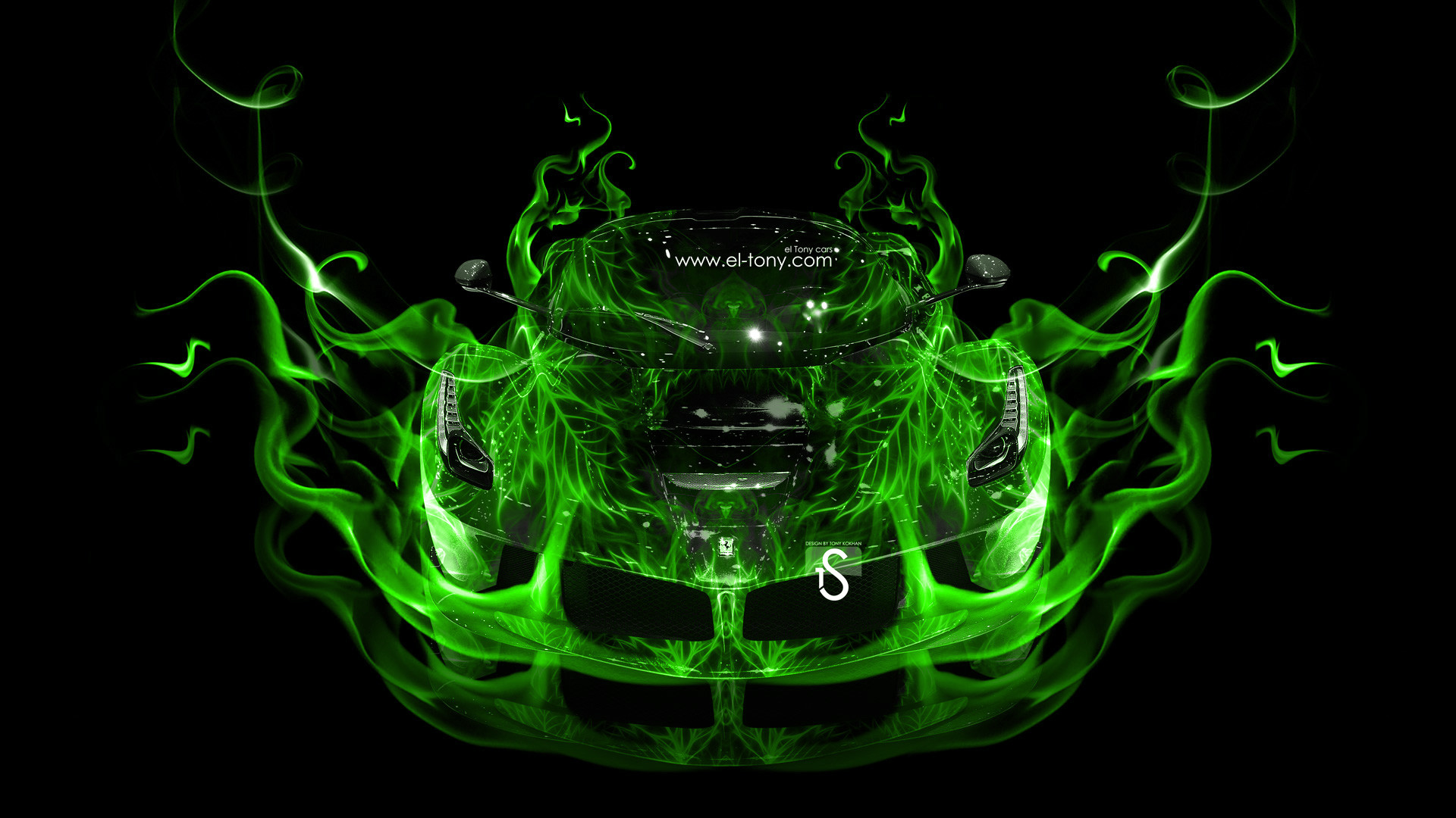 Ferrari-Laferrari-Green-Fire-Abstract-Car-2013-HD-