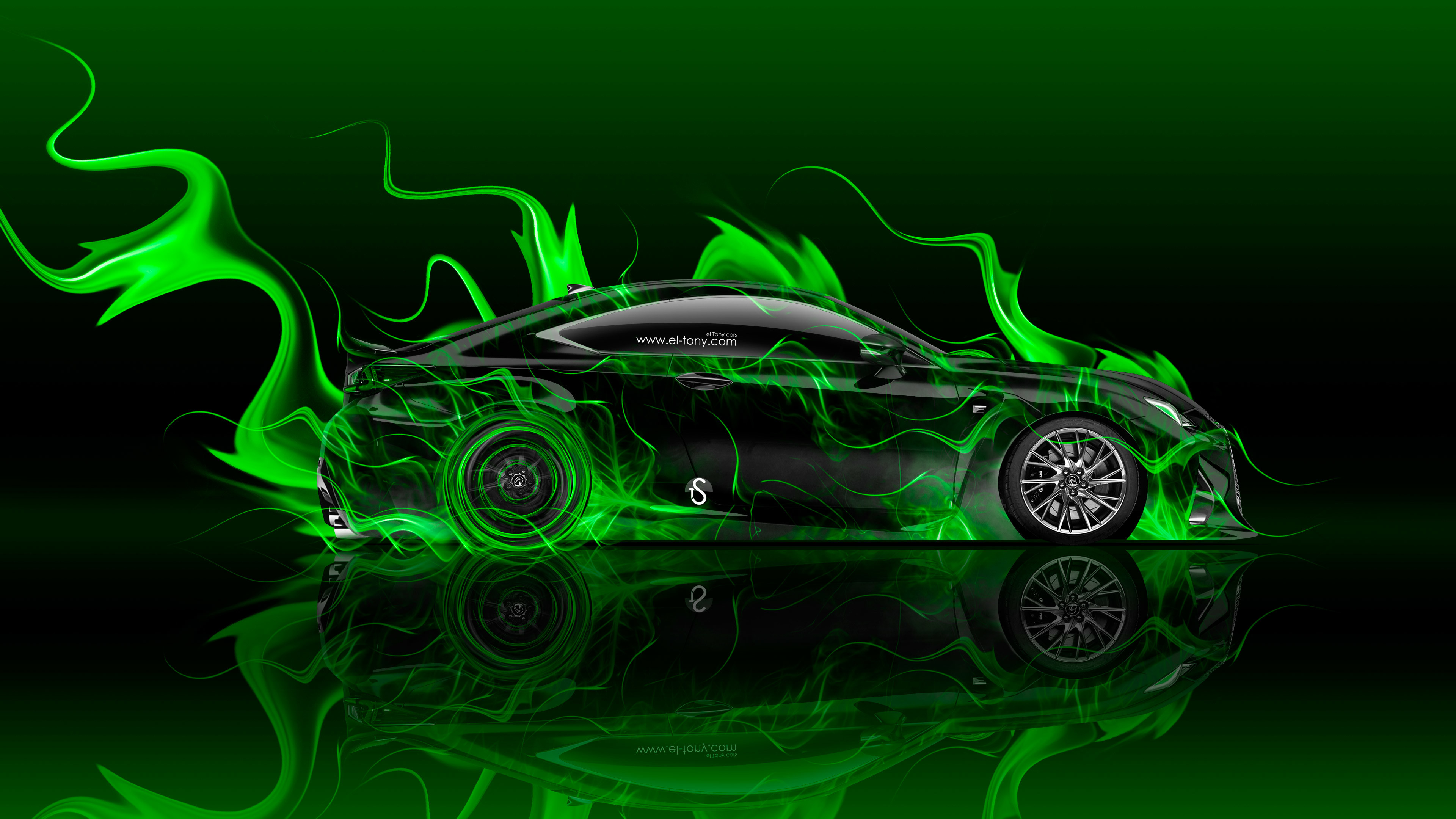 … Lexus-RC-F-Side-Super-Fire-Flame-Abstract- …