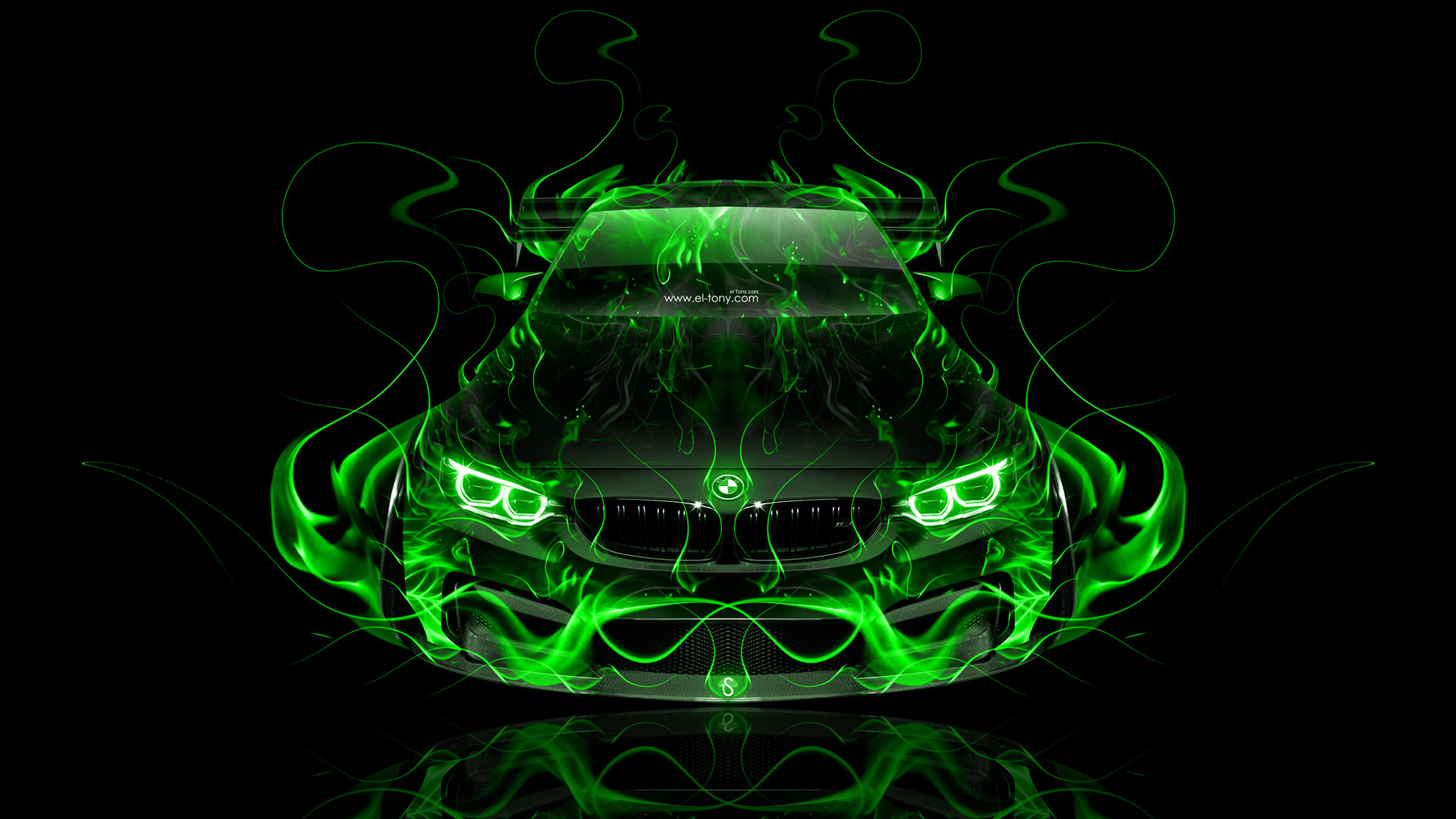 … BMW-M4-Tuning-FrontUp-Super-Fire-Flame-Abstract- …