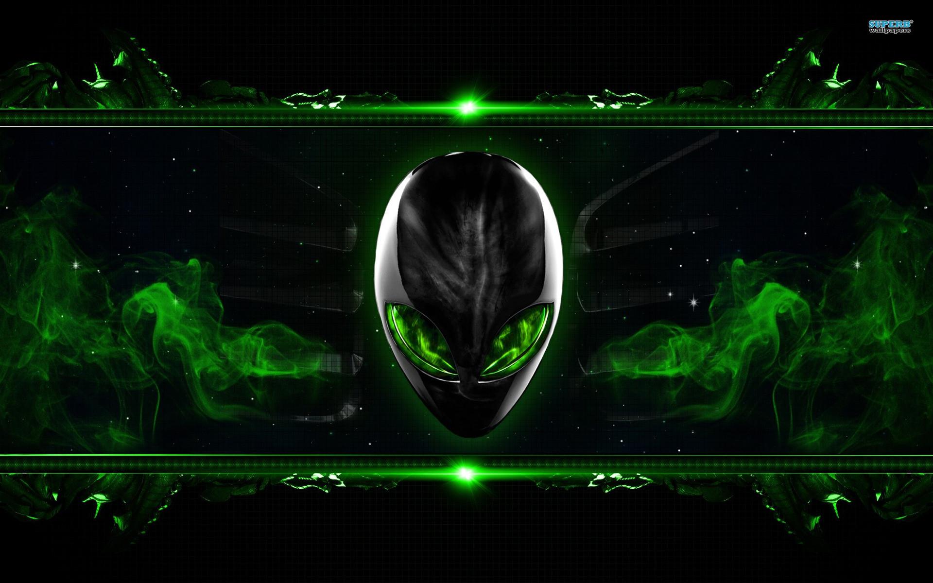 Alienware Desktop Background Smokey Green 1920×1200