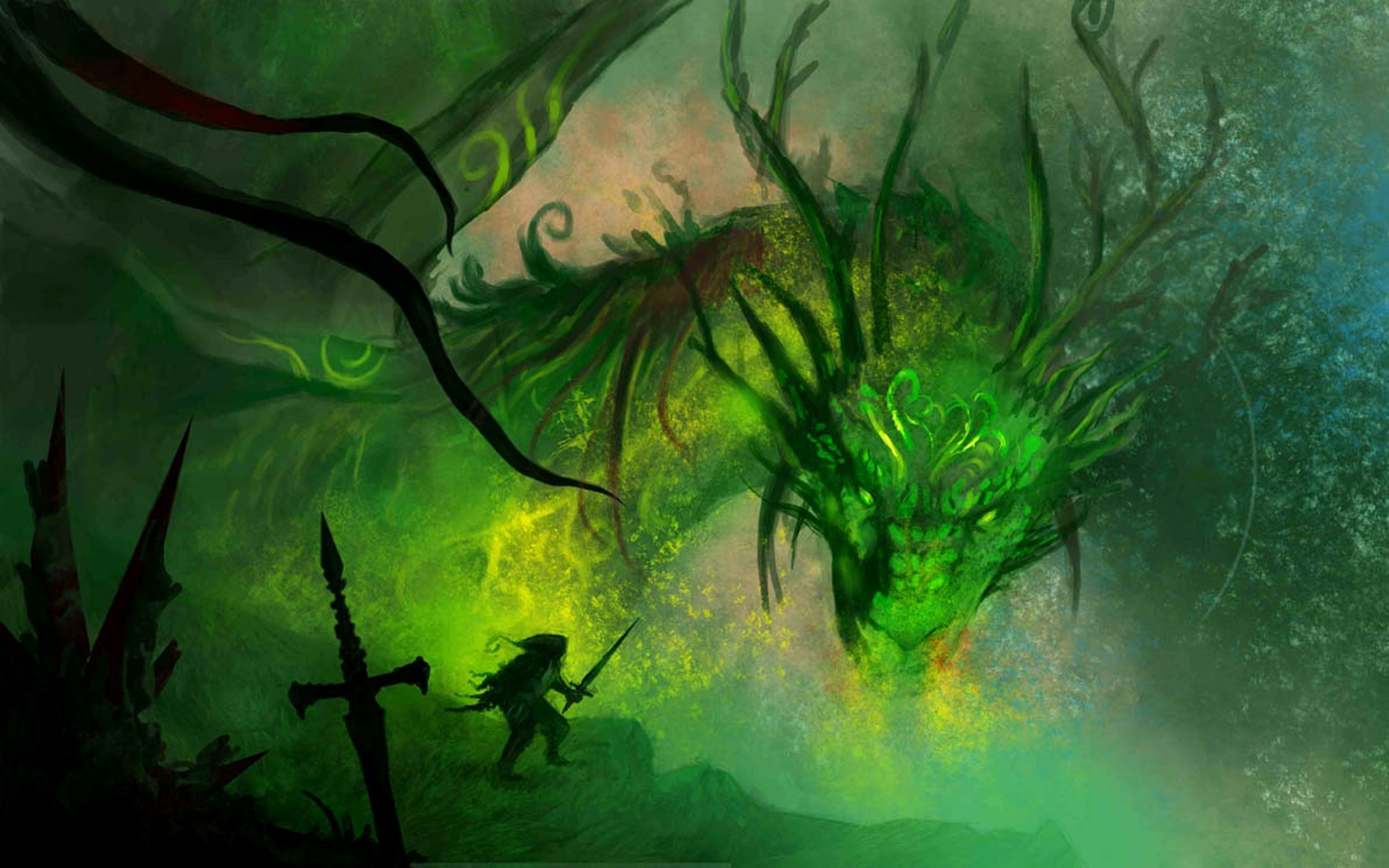 Dragons Fantasy Wallpaper Dragons, Fantasy, Art