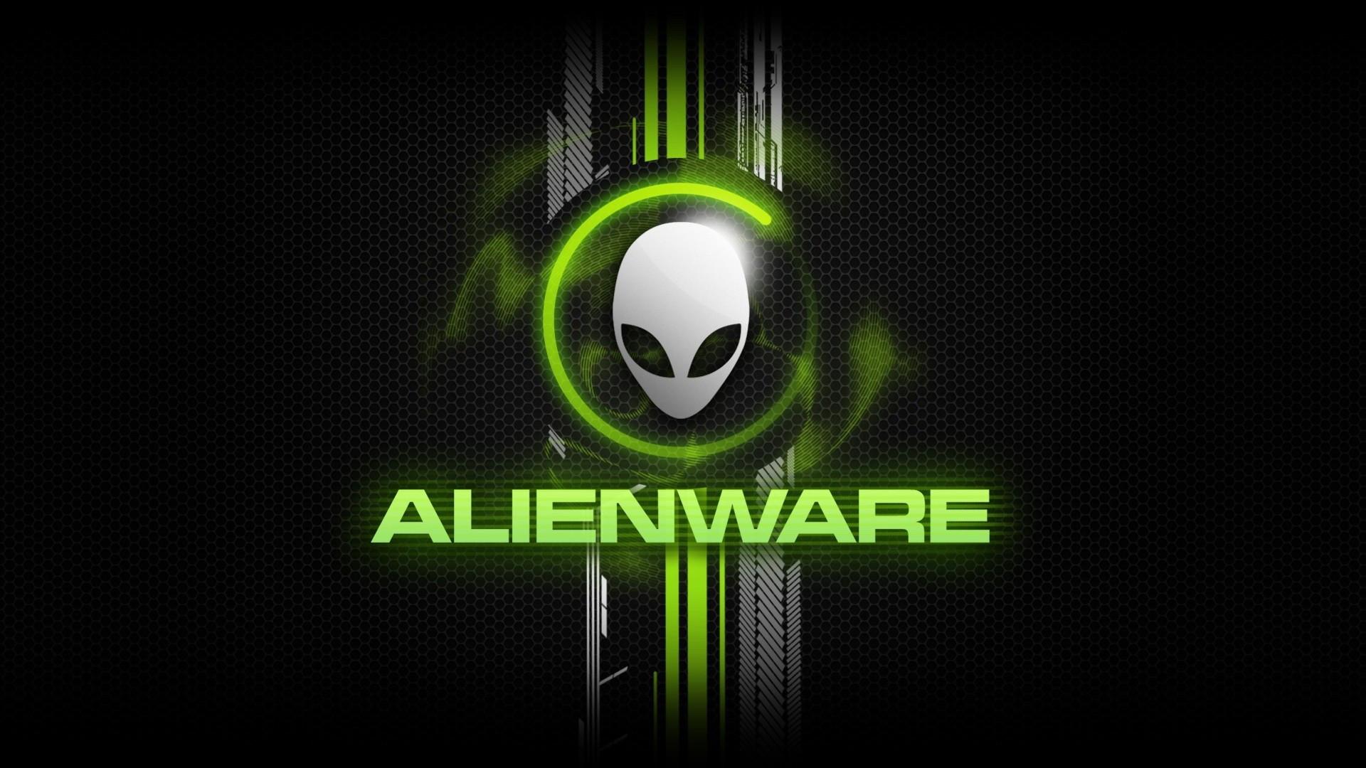 Alienware Desktop Background Alien Head Green Honeycomb Design 1920×1080