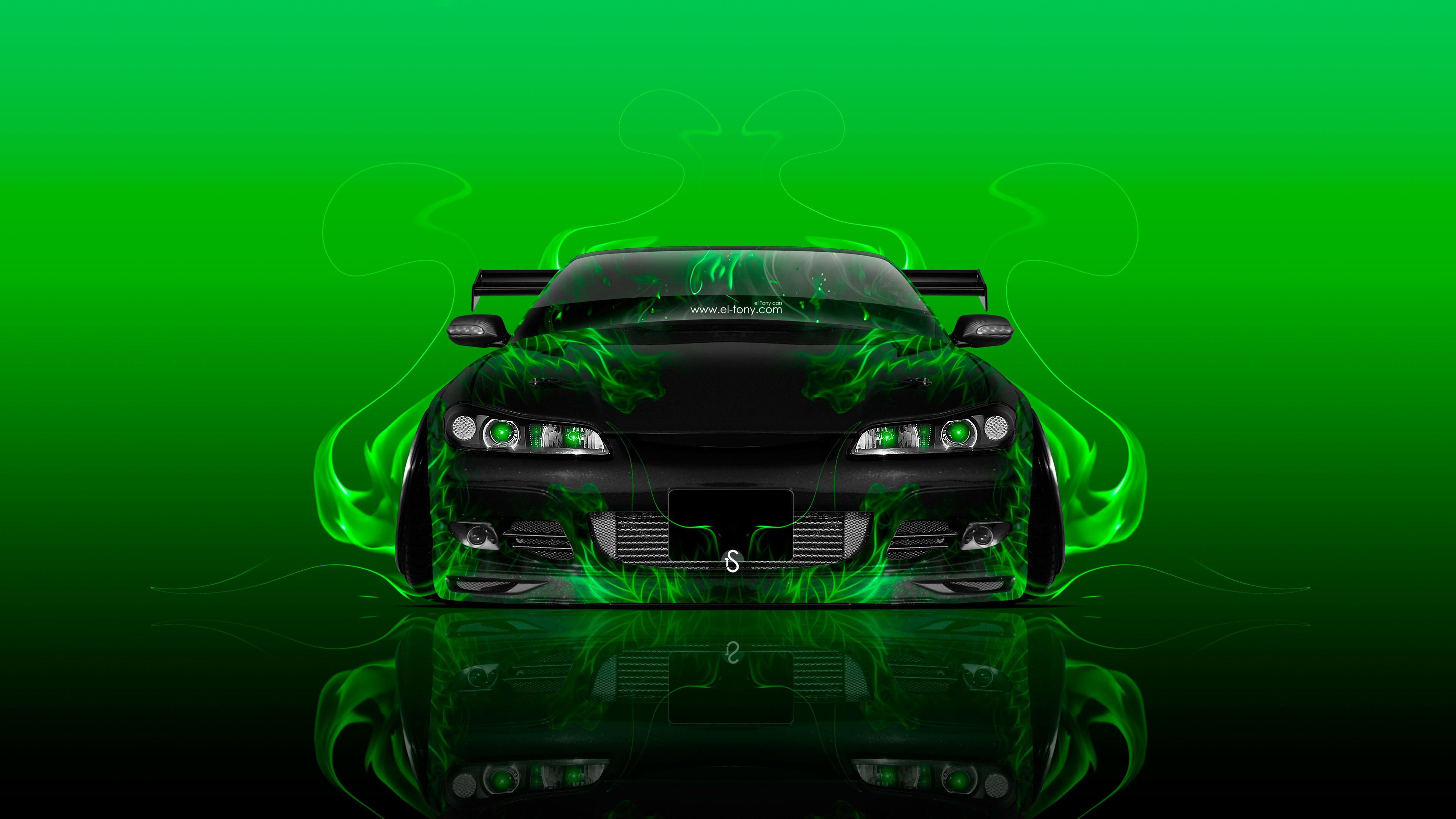 … Nissan-Silvia-S15-JDM-Tuning-Front-Fire-Flame- …