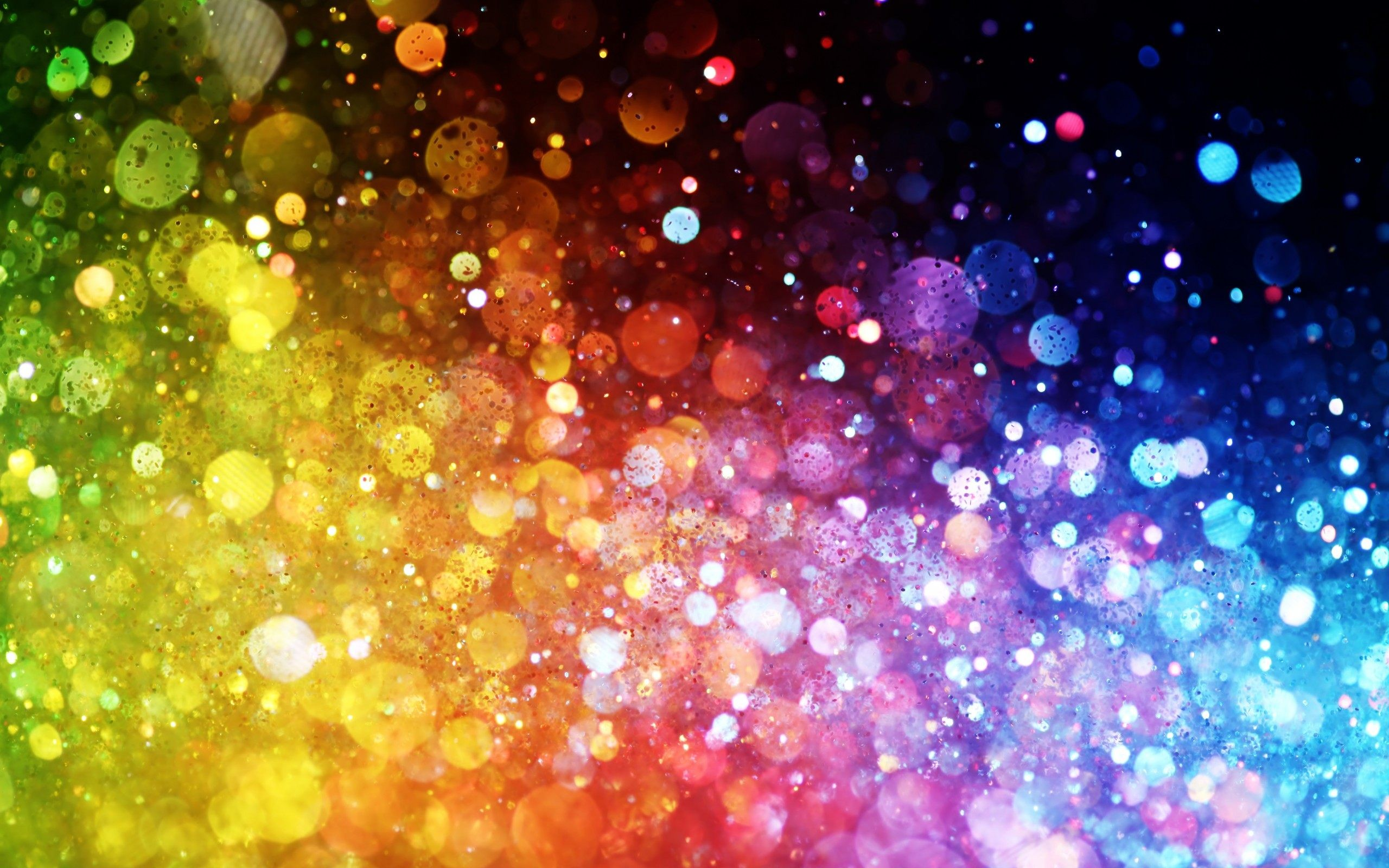 Colours Of Rainbow Dots Abstract Wallpaper
