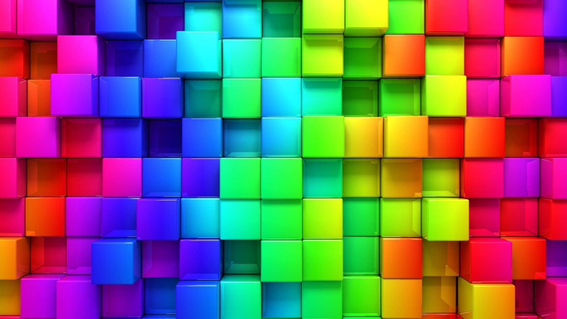 Blocks Rainbow Graphics Background Hd Wallpaper Hdwallwide 1920x1080px