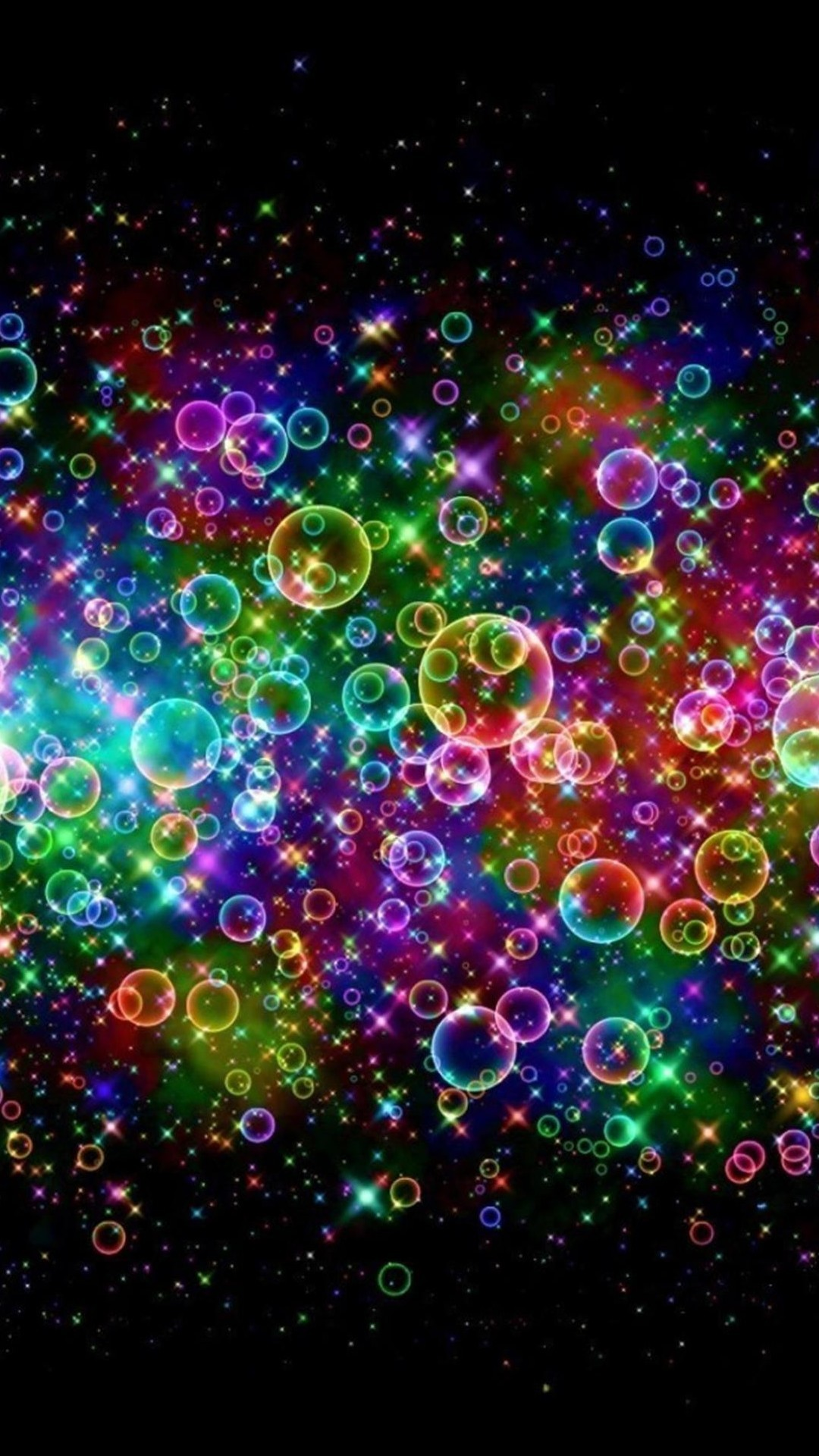 Rainbow Colored Soap Bubbles Android Wallpaper …
