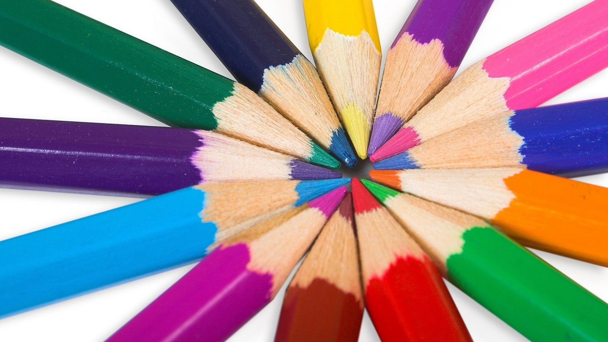 Wallpaper colored pencils, pencil, positive, rainbow, colorful