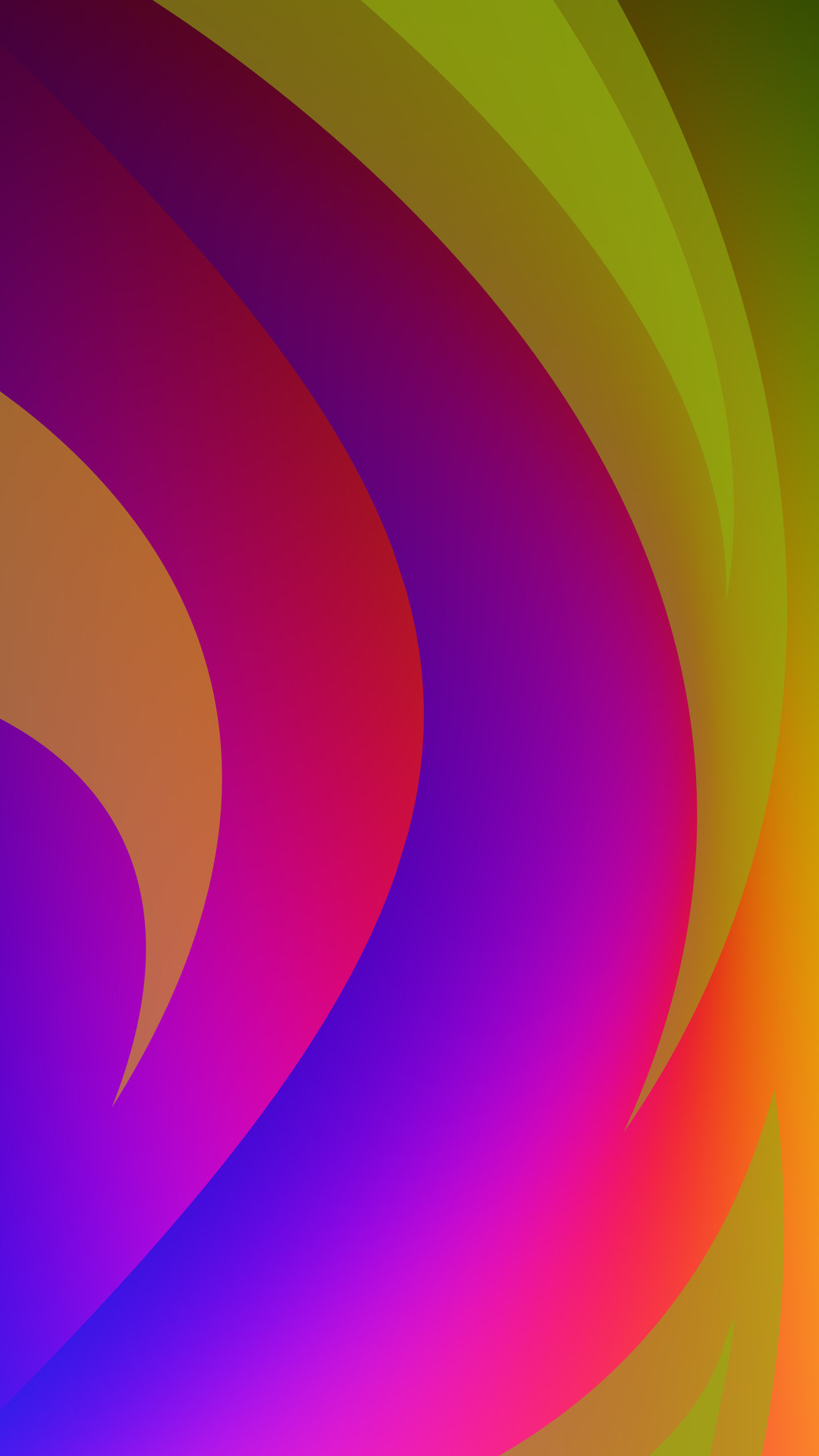 Rainbow colored curves Wallpaper