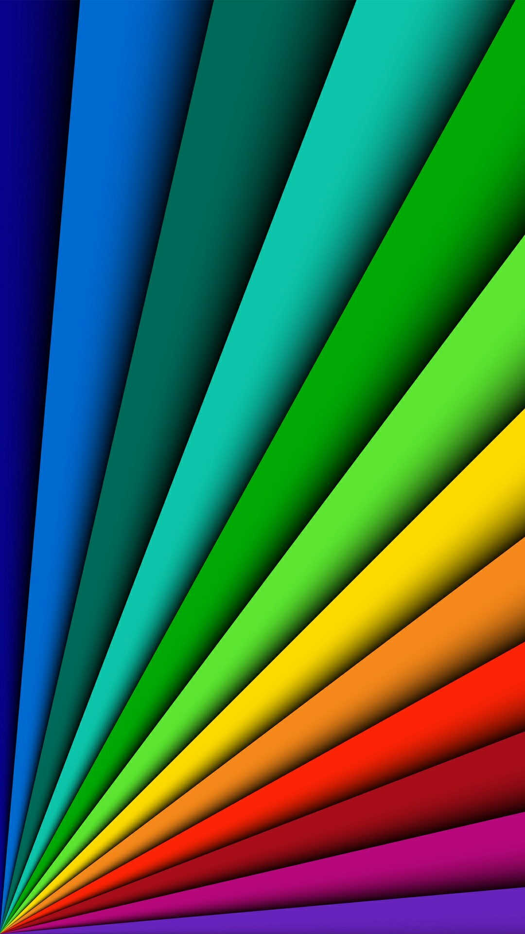 Fanned Out Primary Colors Wallpaper